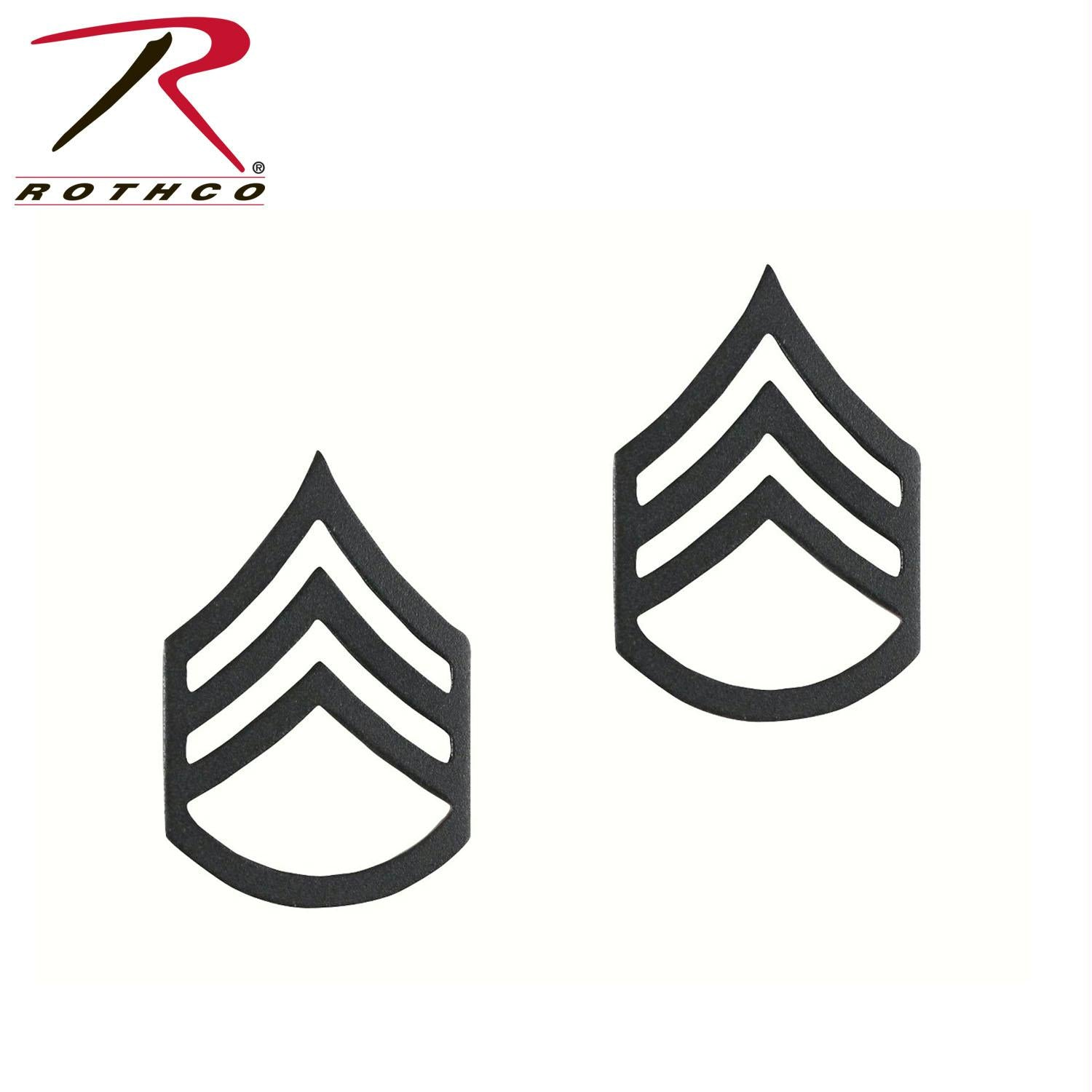 Rothco Staff Sergeant Polished Insignia - Subdued