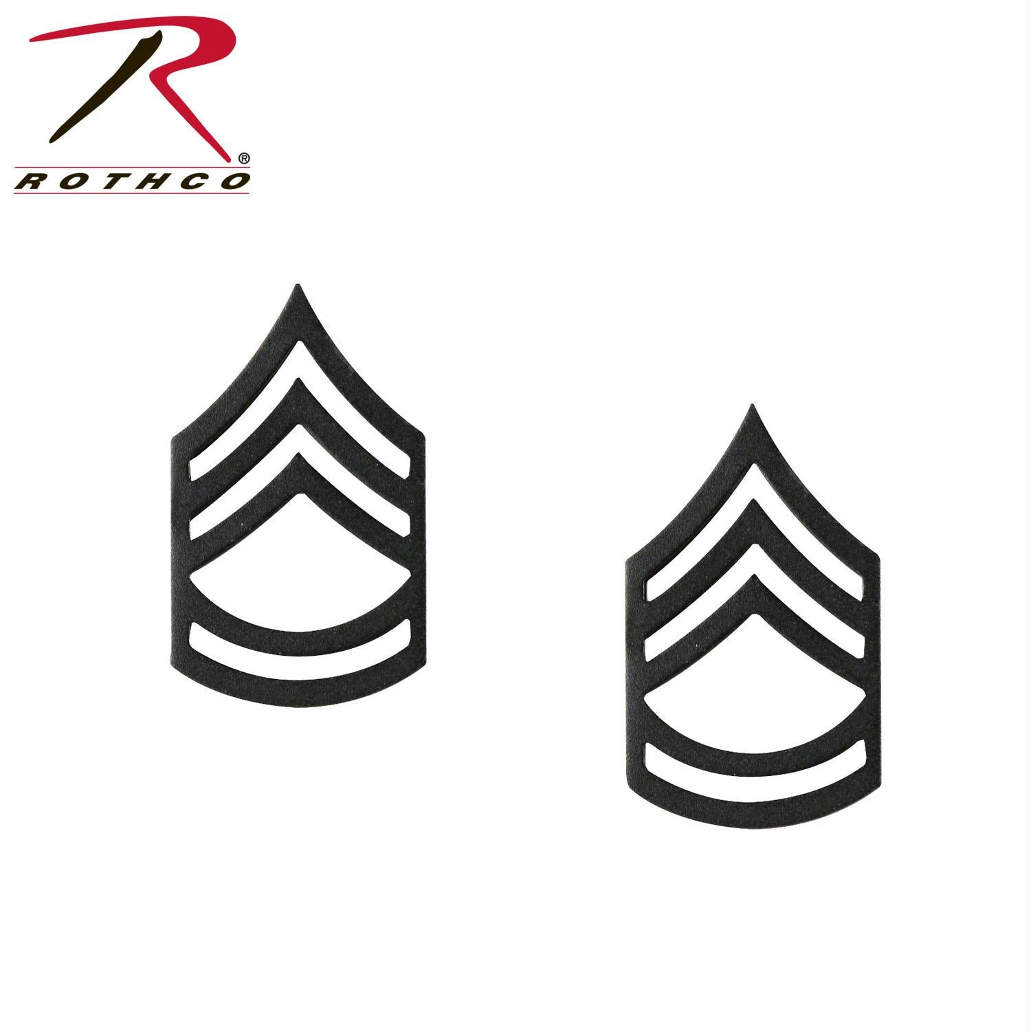 Rothco Sergeant First Class Polished Insignia Pin - Subdued