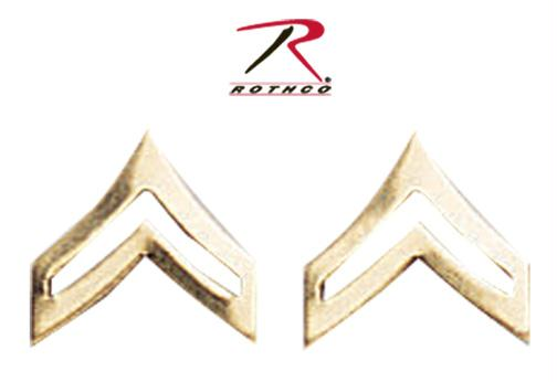 Rothco Corporal Polished Insignia - Gold