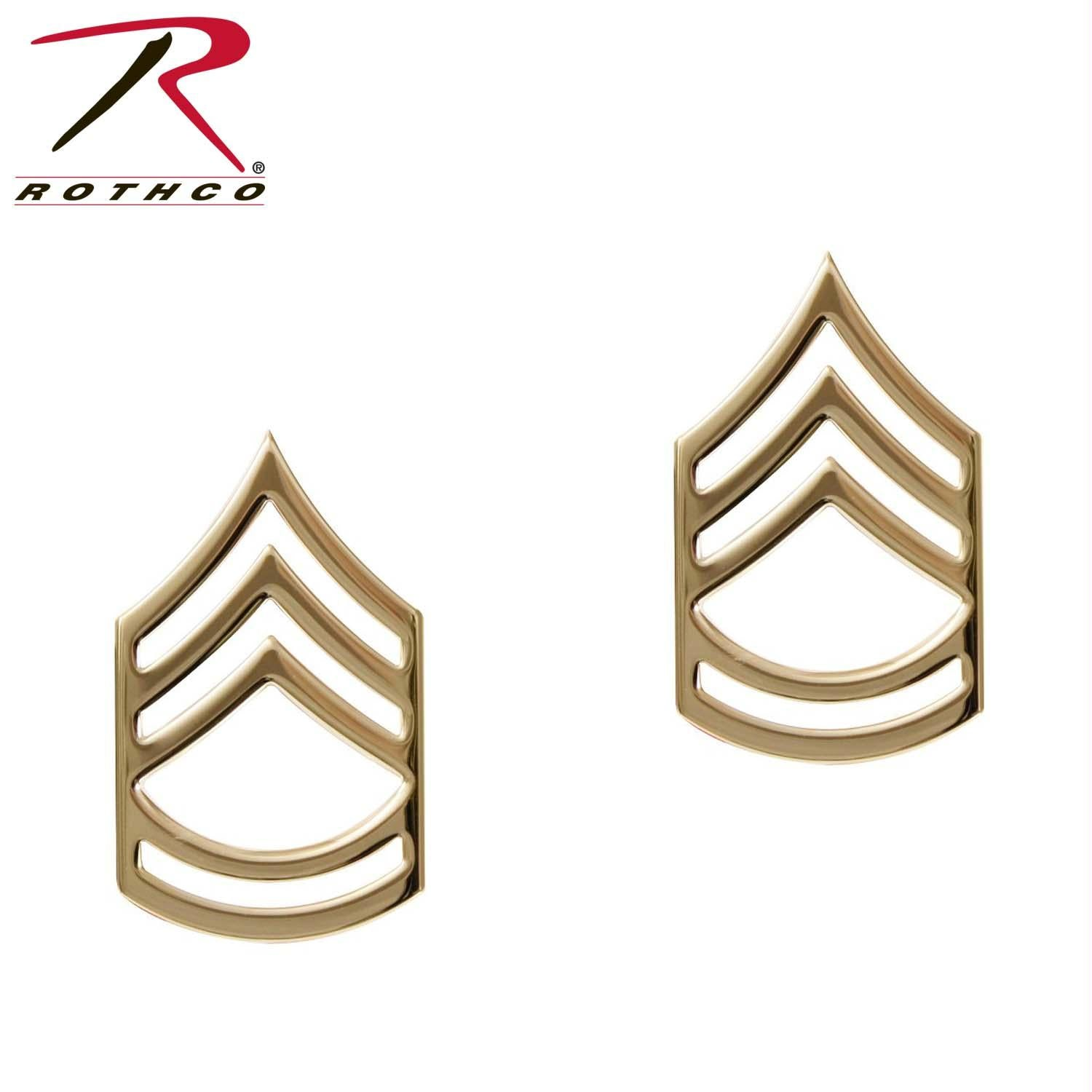 Rothco Sergeant First Class Polished Insignia Pin - Gold