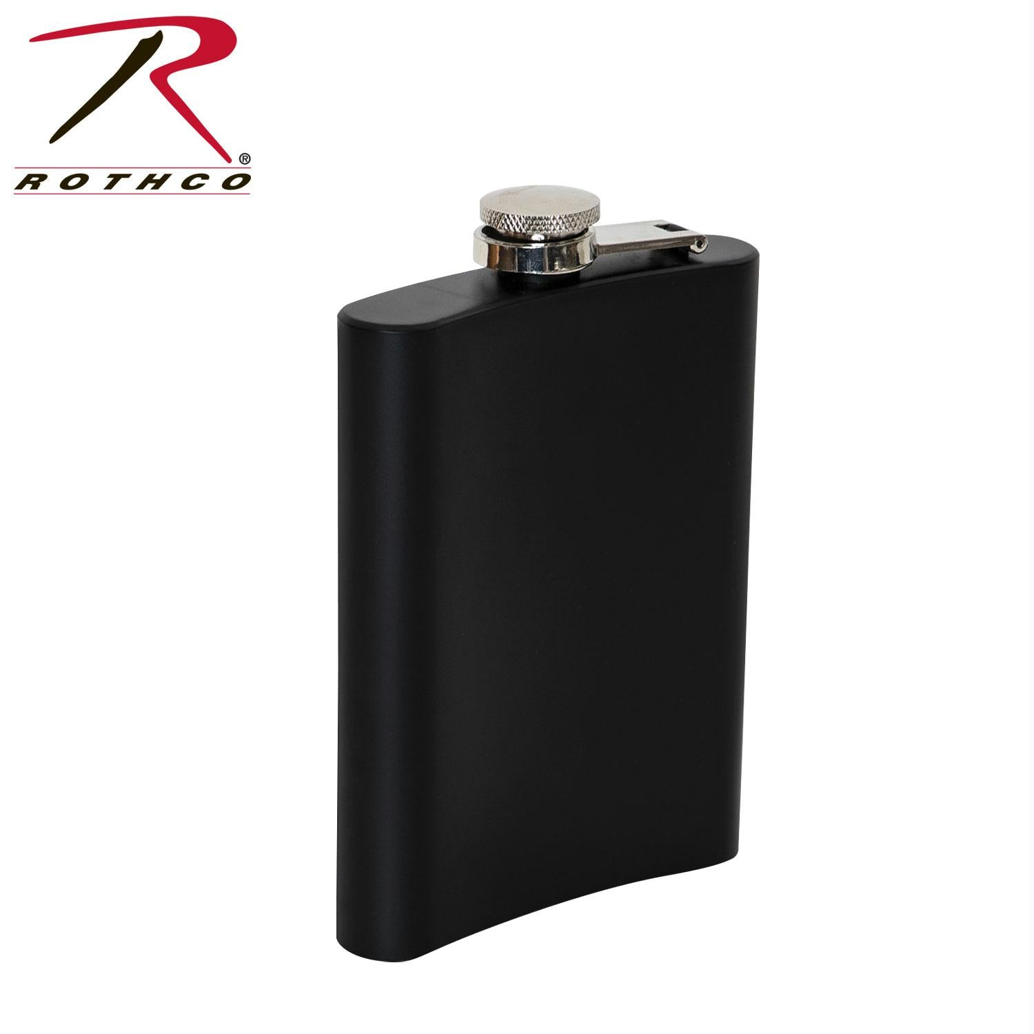 Rothco Stainless Steel Flask - Black