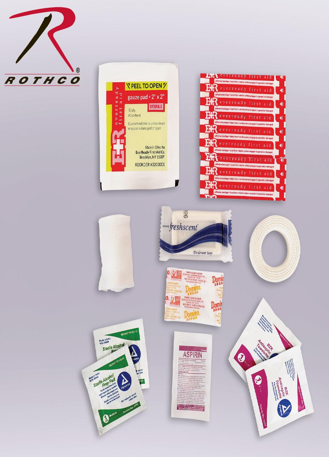 Military Zipper First Aid Kit Contents