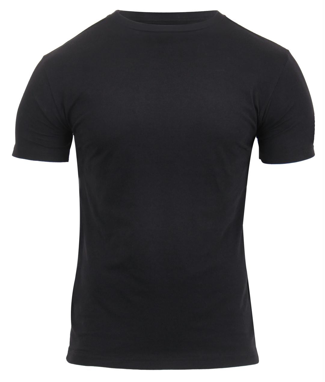 Rothco Athletic Fit Solid Color Military T-Shirt - Black / S