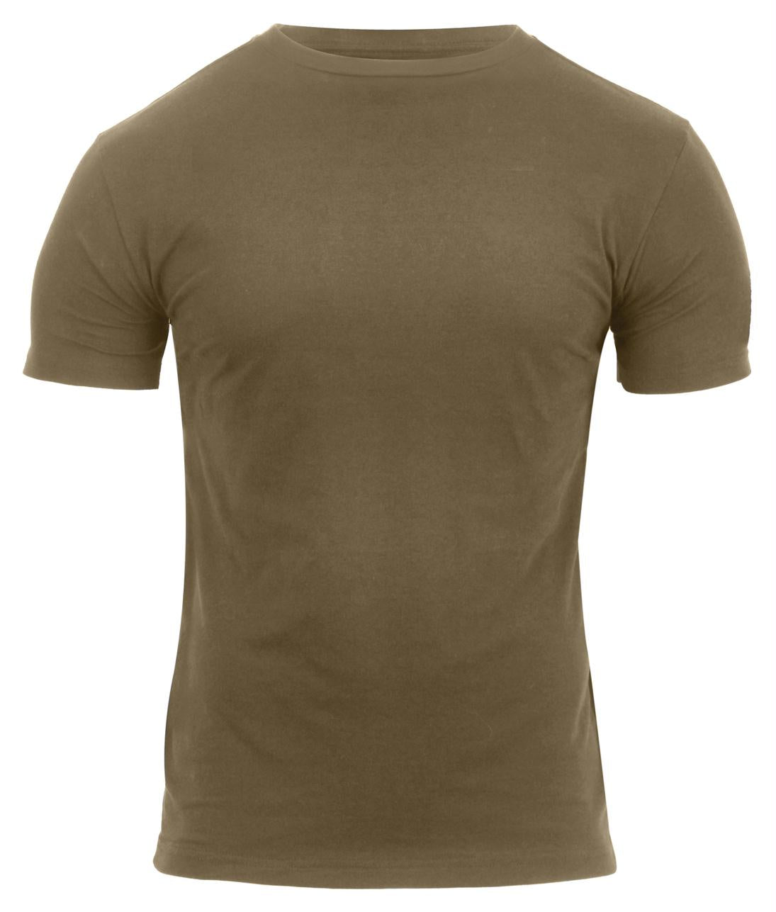 Rothco Athletic Fit Solid Color Military T-Shirt - Coyote Brown / S