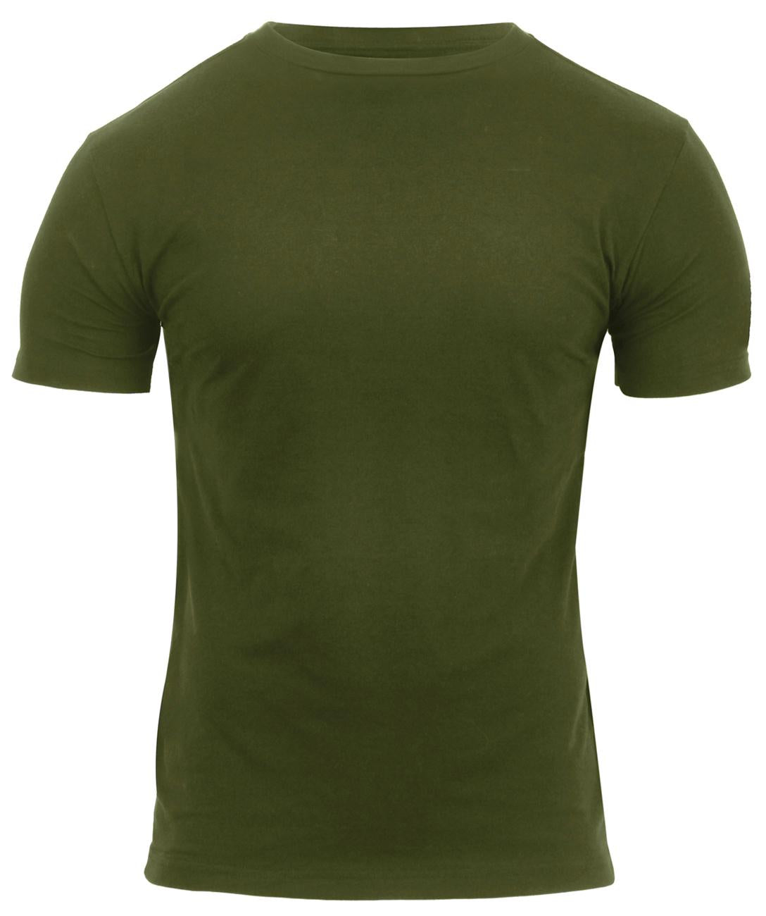 Rothco Athletic Fit Solid Color Military T-Shirt - Olive Drab / S