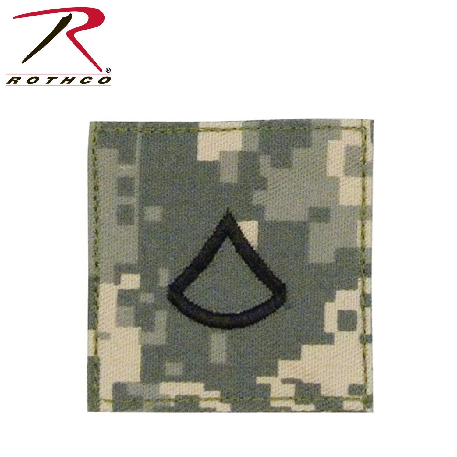 Official U.S. Made Embroidered Rank Insignia - Private 1st Class - ACU Digital Camo