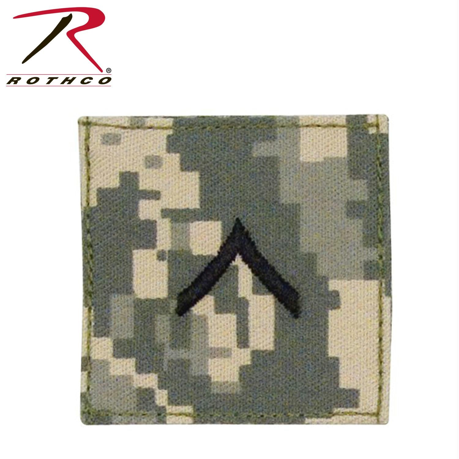 Rothco Official U.S. Made Embroidered Rank Insignia - Private - ACU Digital Camo