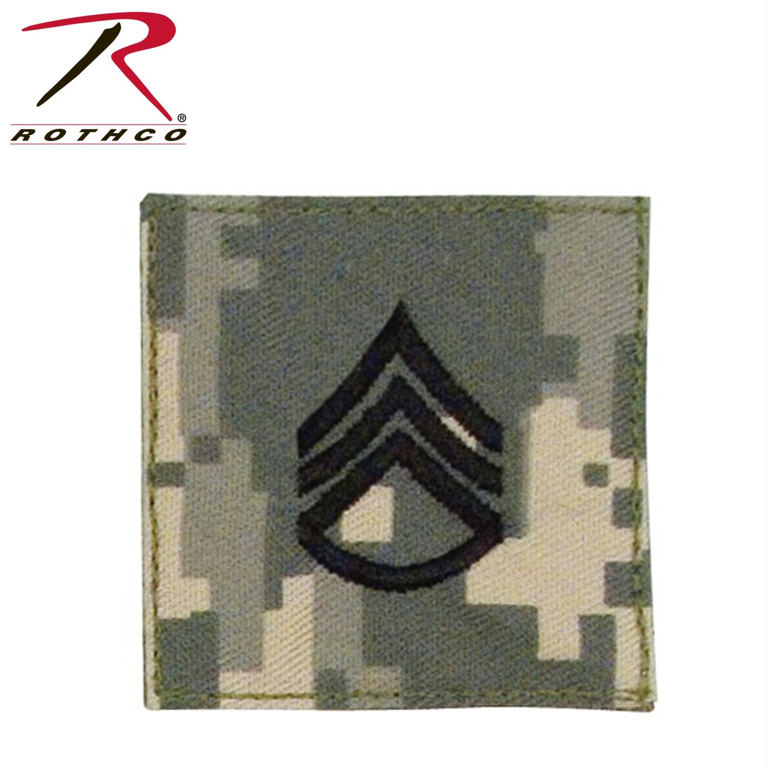 Rothco Official U.S. Made Embroidered Rank Insignia Staff Sergeant Patch - ACU Digital Camo