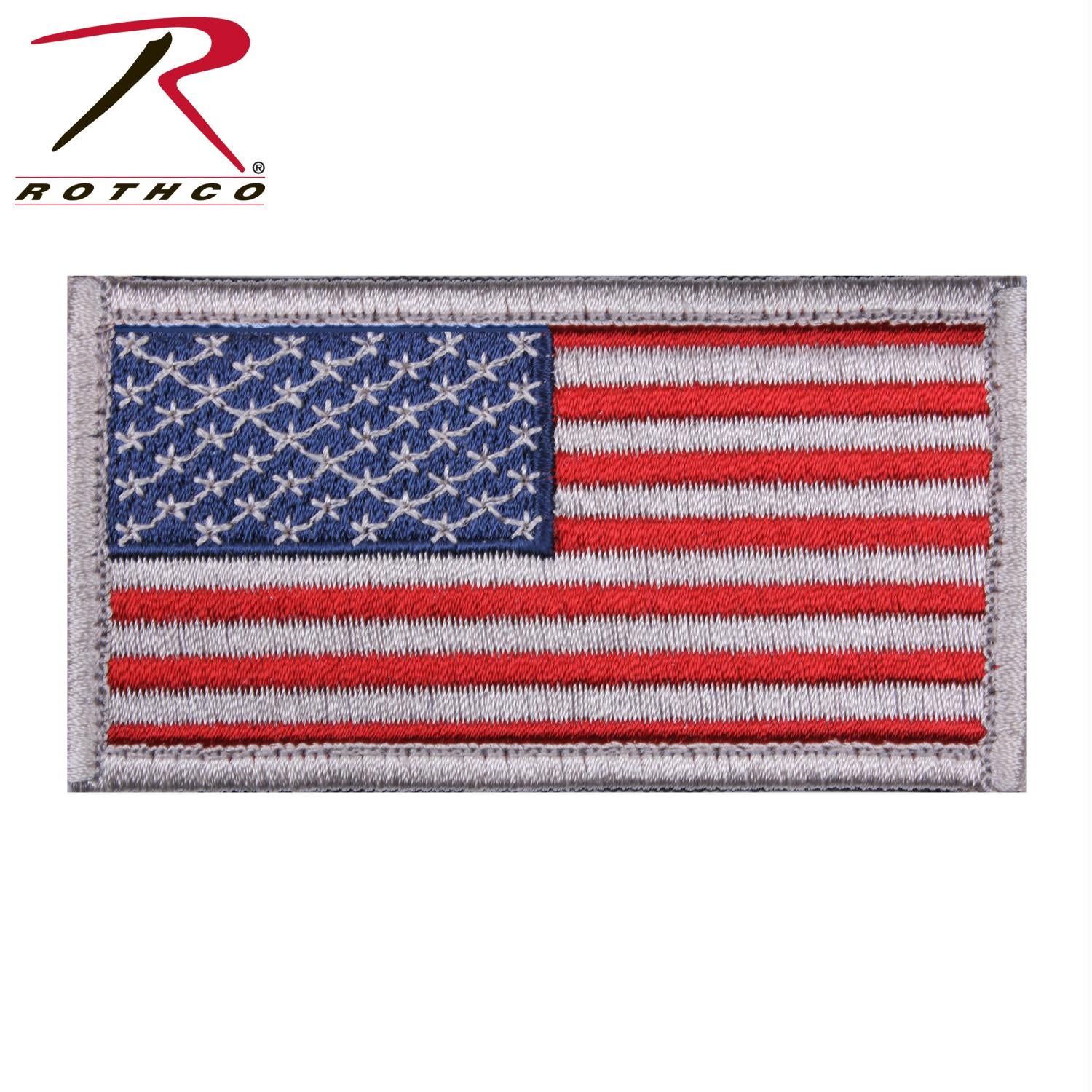 Rothco American Flag Patch - Red White Blue with White Border / Normal / Bulk Packaging