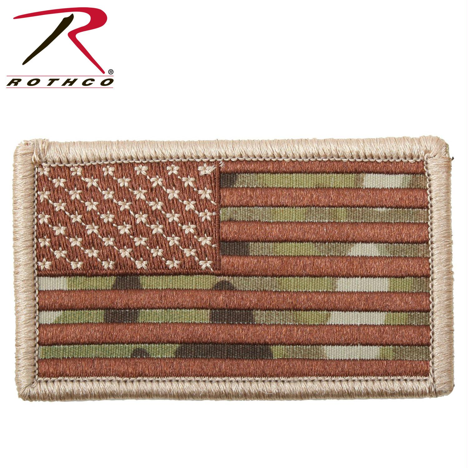 Rothco American Flag Patch - MultiCam / Normal / Bulk Packaging