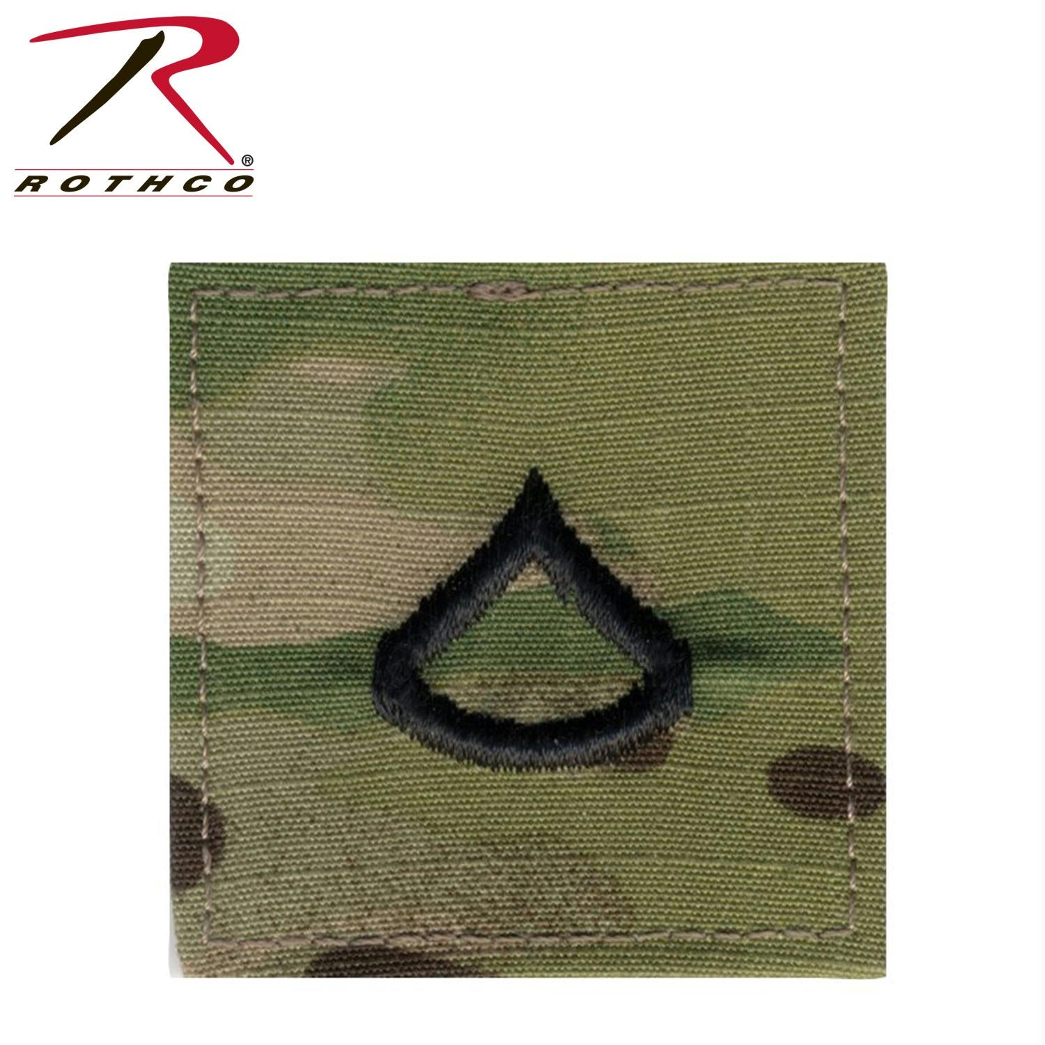 Official U.S. Made Embroidered Rank Insignia - Private 1st Class - MultiCam