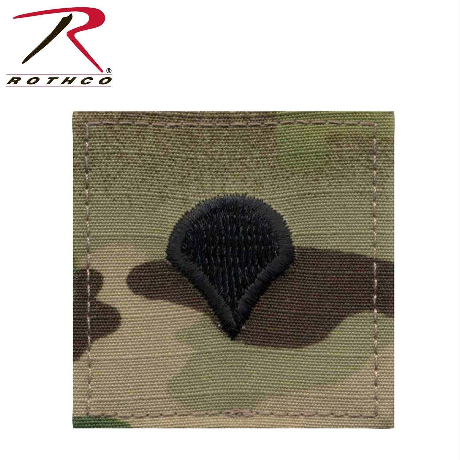 Rothco Official U.S. Made Embroidered Rank Insignia Spec-4 - MultiCam