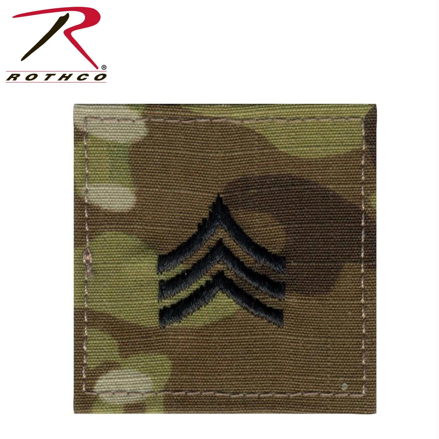 Official U.S. Made Embroidered Rank Insignia - Sergeant - MultiCam