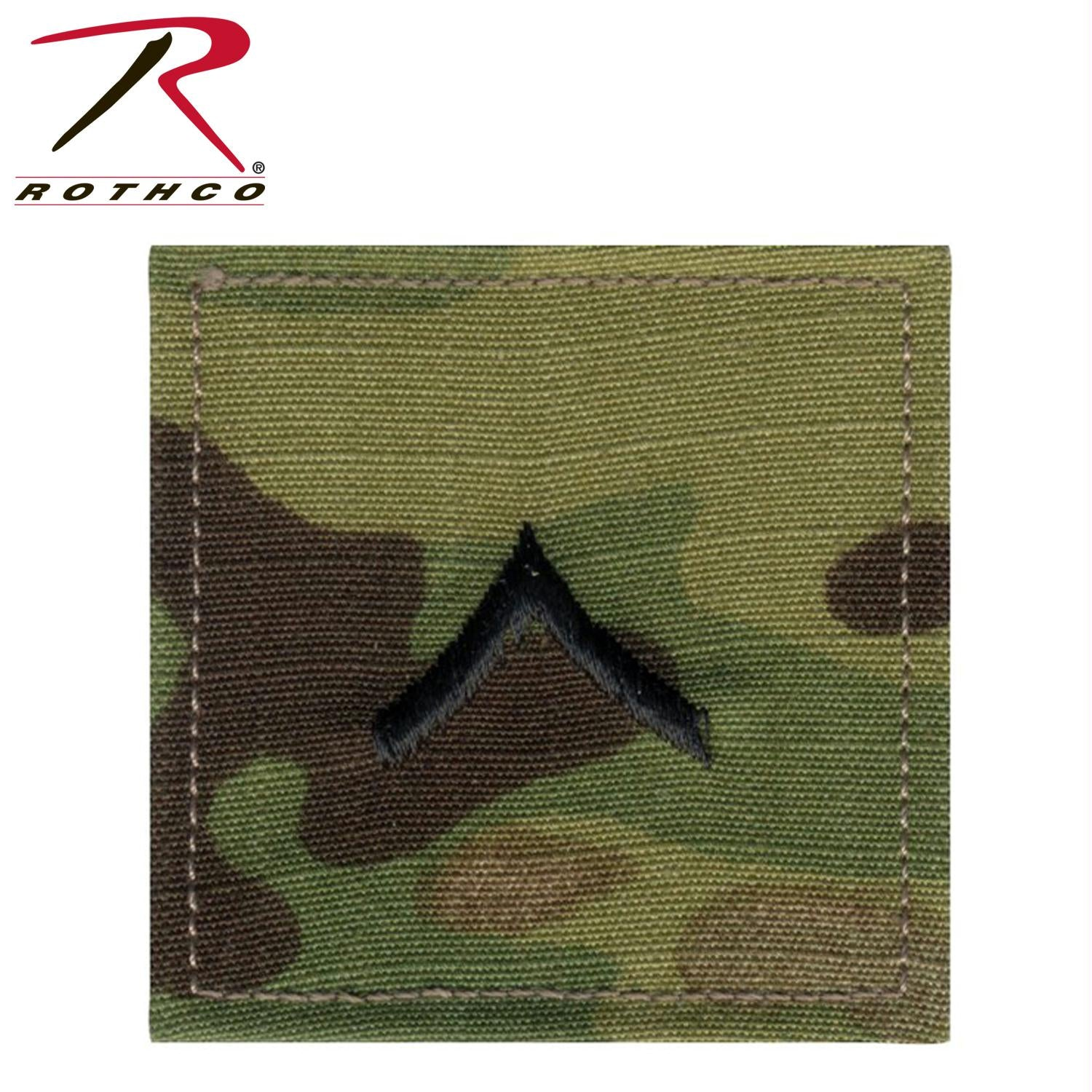 Rothco Official U.S. Made Embroidered Rank Insignia - Private - MultiCam