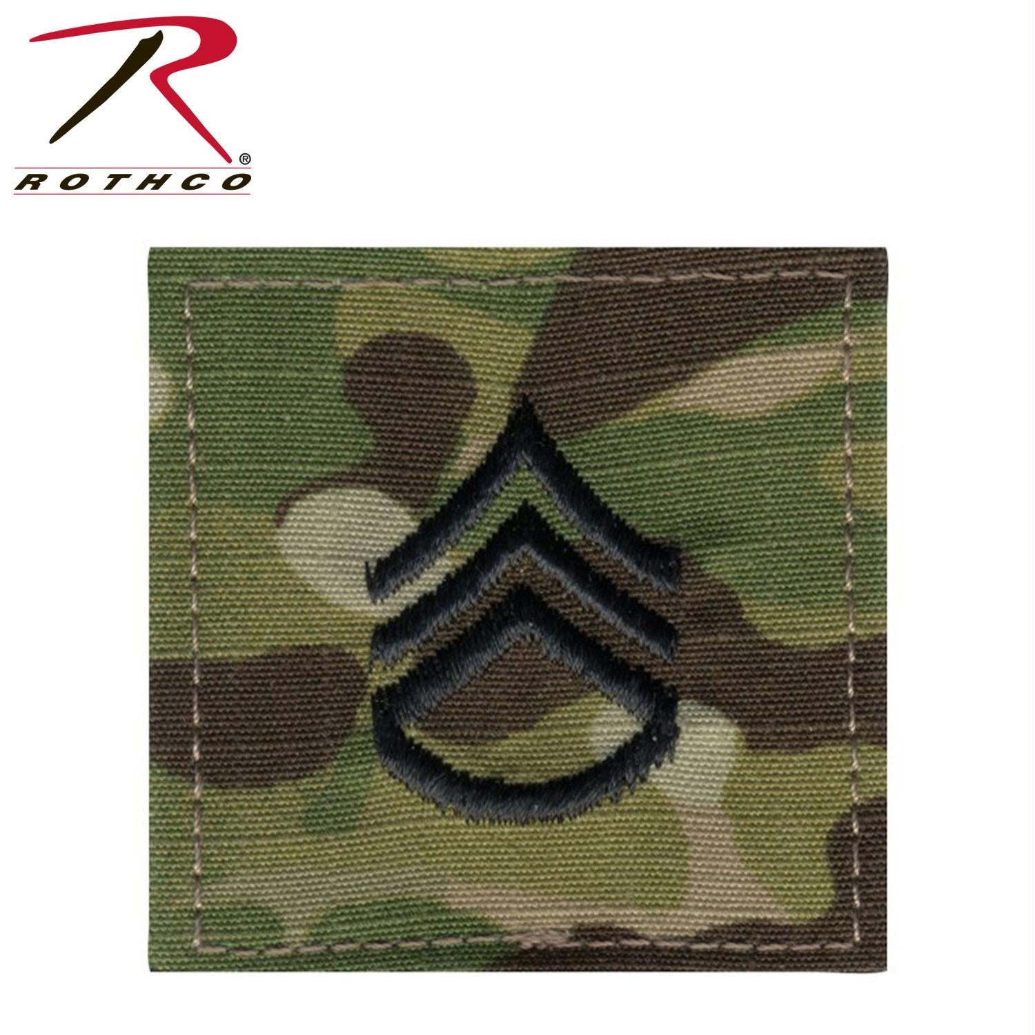 Rothco Official U.S. Made Embroidered Rank Insignia Staff Sergeant Patch - MultiCam