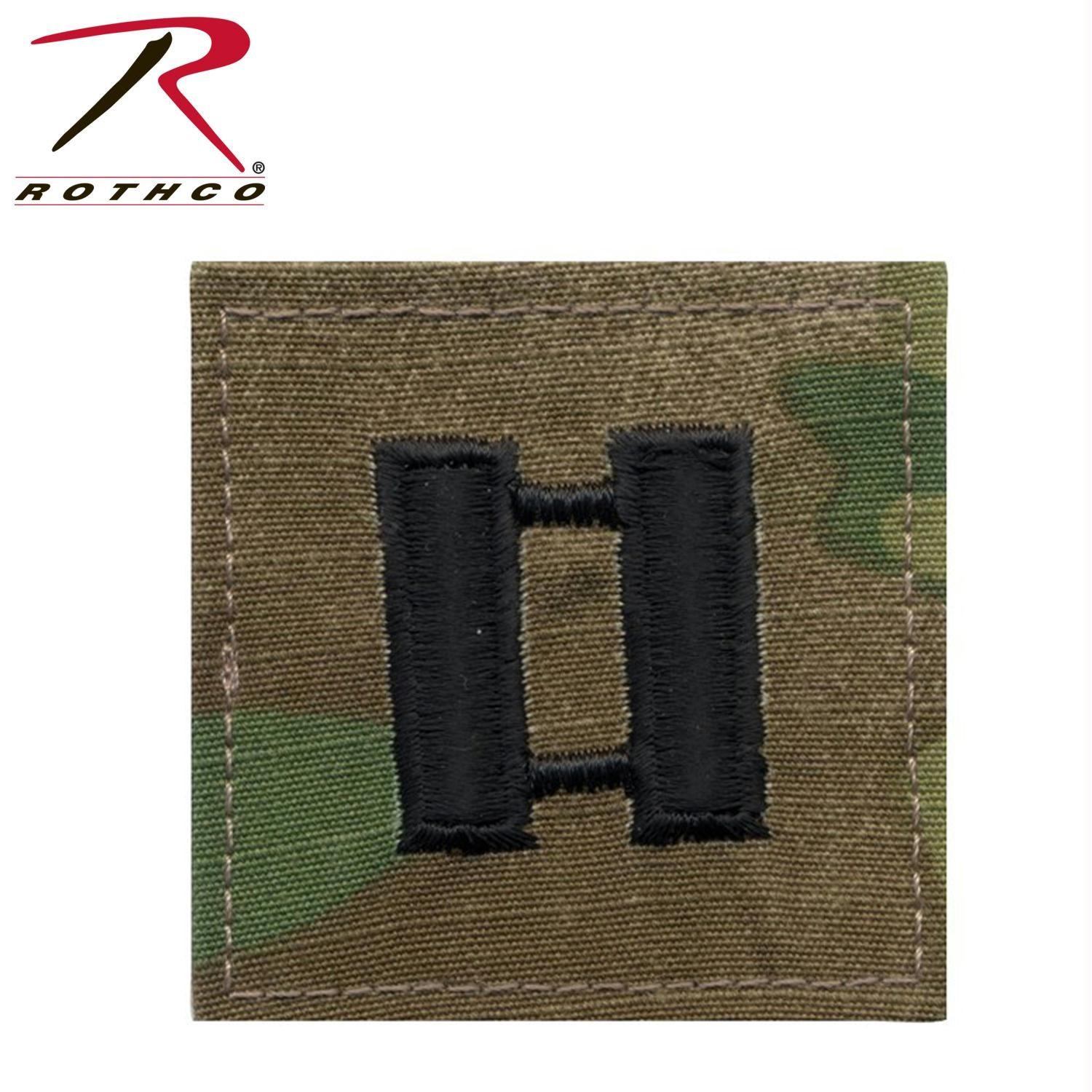 Official U.S. Made Embroidered Rank Insignia - Captain Insignia - MultiCam