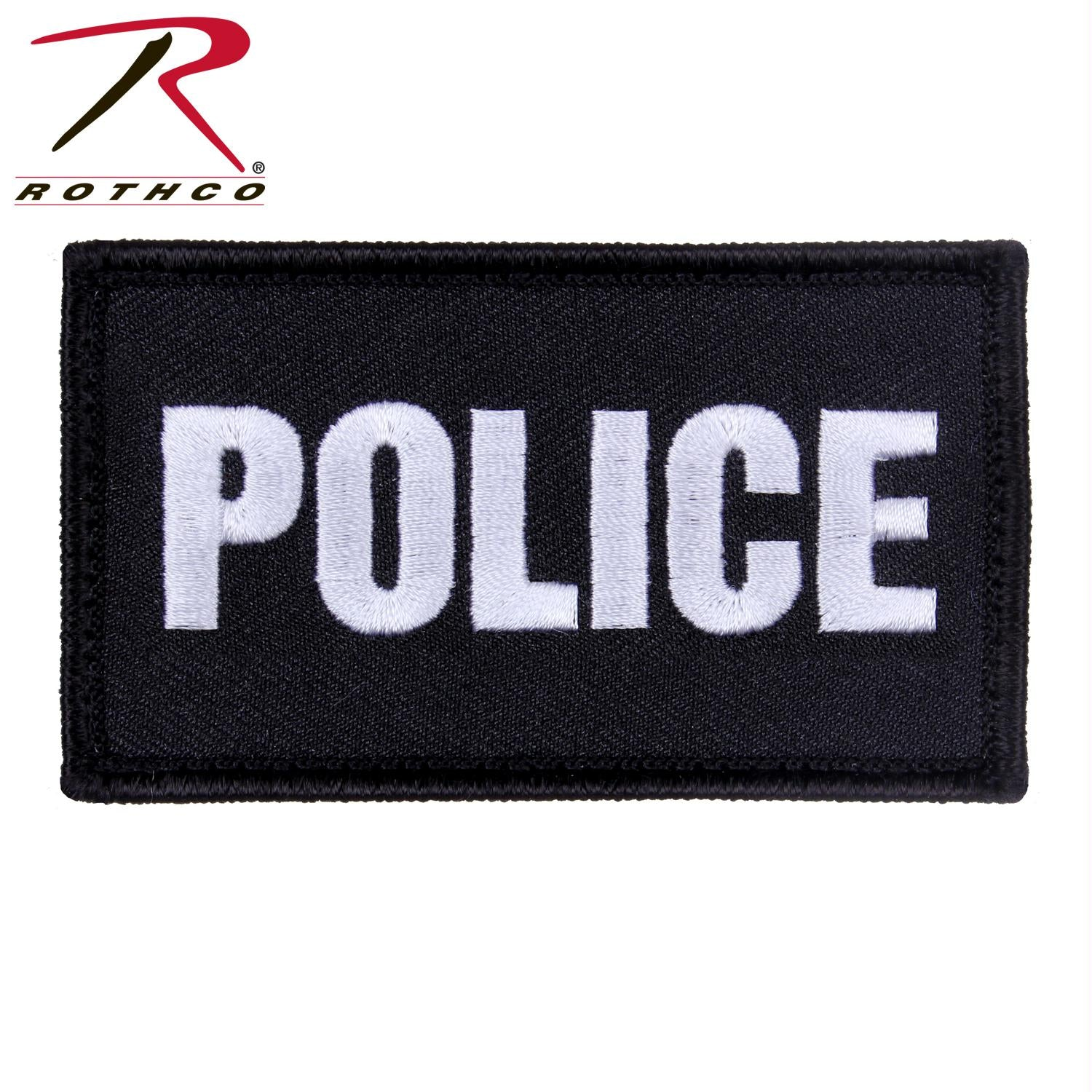 Rothco Police Patch with Hook Back - Black / White / One Size