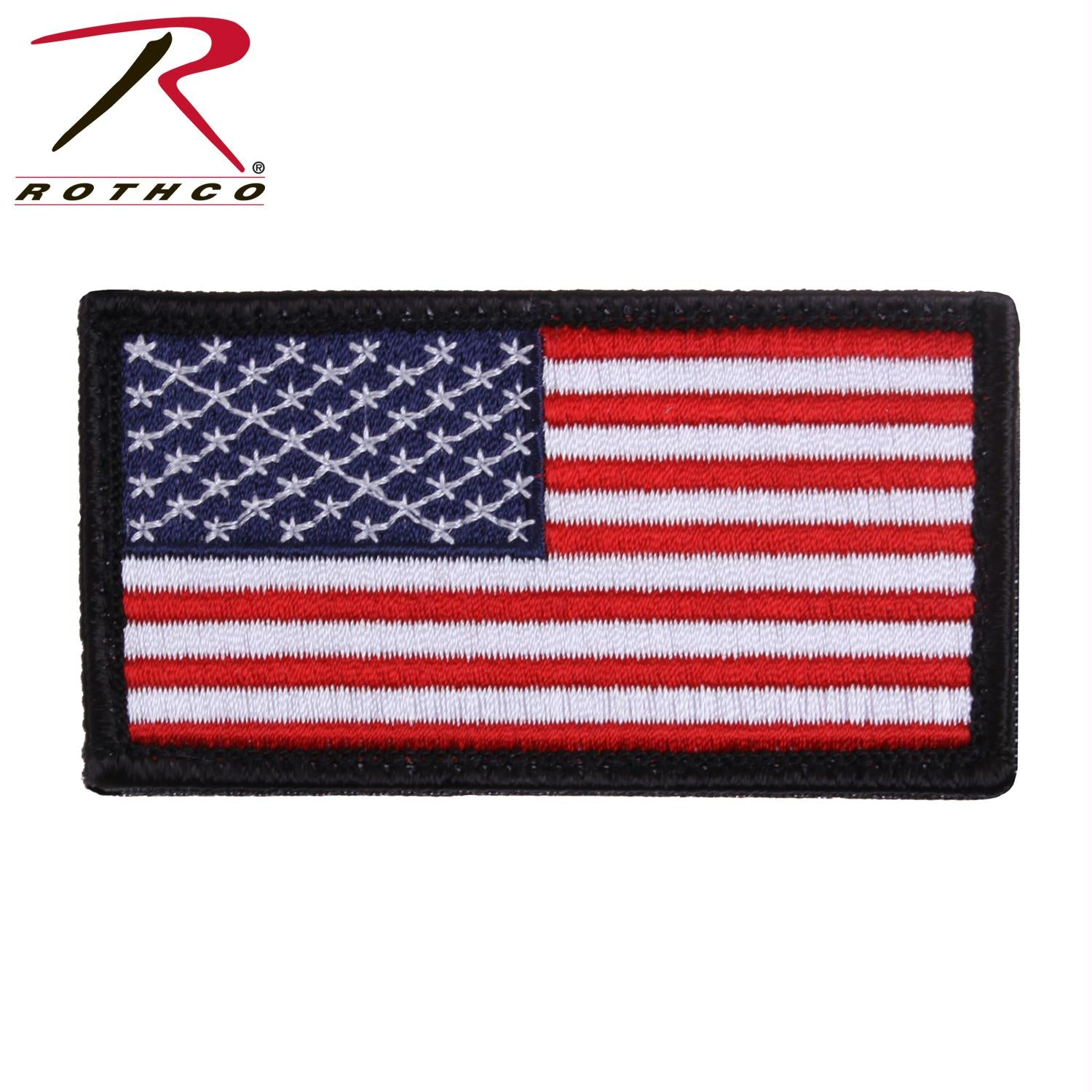 Rothco American Flag Patch - Red White Blue with Black Border / Normal / Bulk Packaging