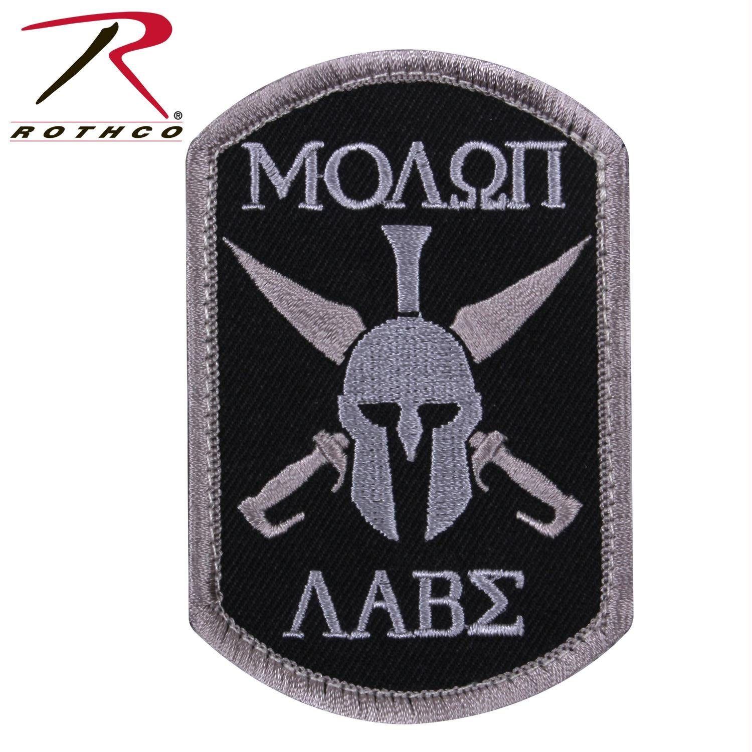 Rothco Molon Labe Spartan Morale Patch - Black / Bulk Packaging / One Size