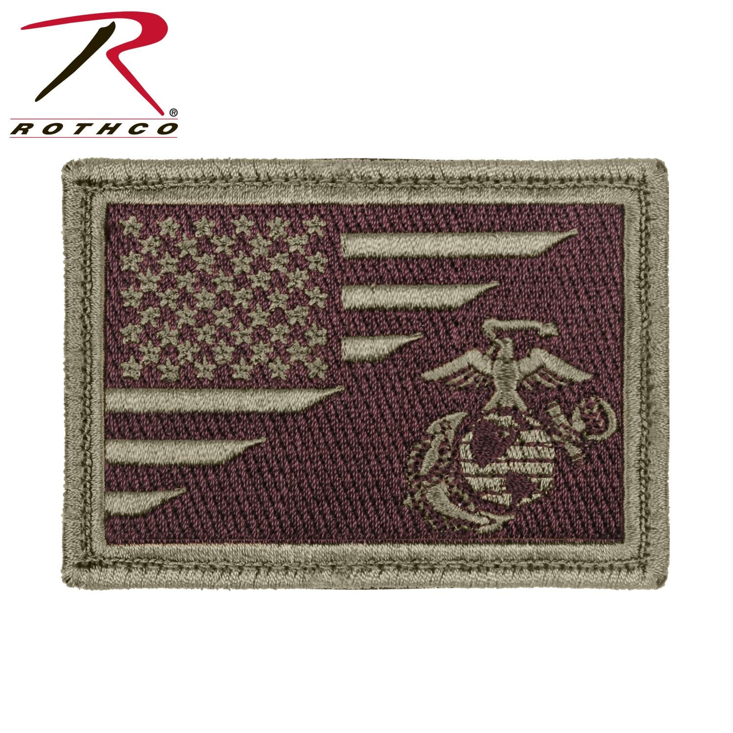 Rothco US Flag / USMC Globe and Anchor Morale Patch