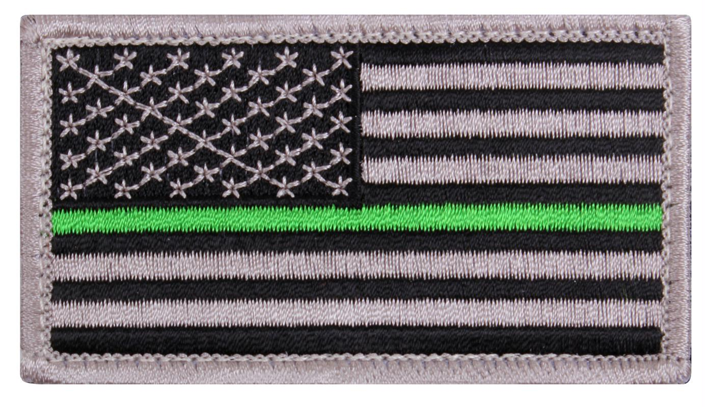 Rothco Thin Green Line US Flag Patch