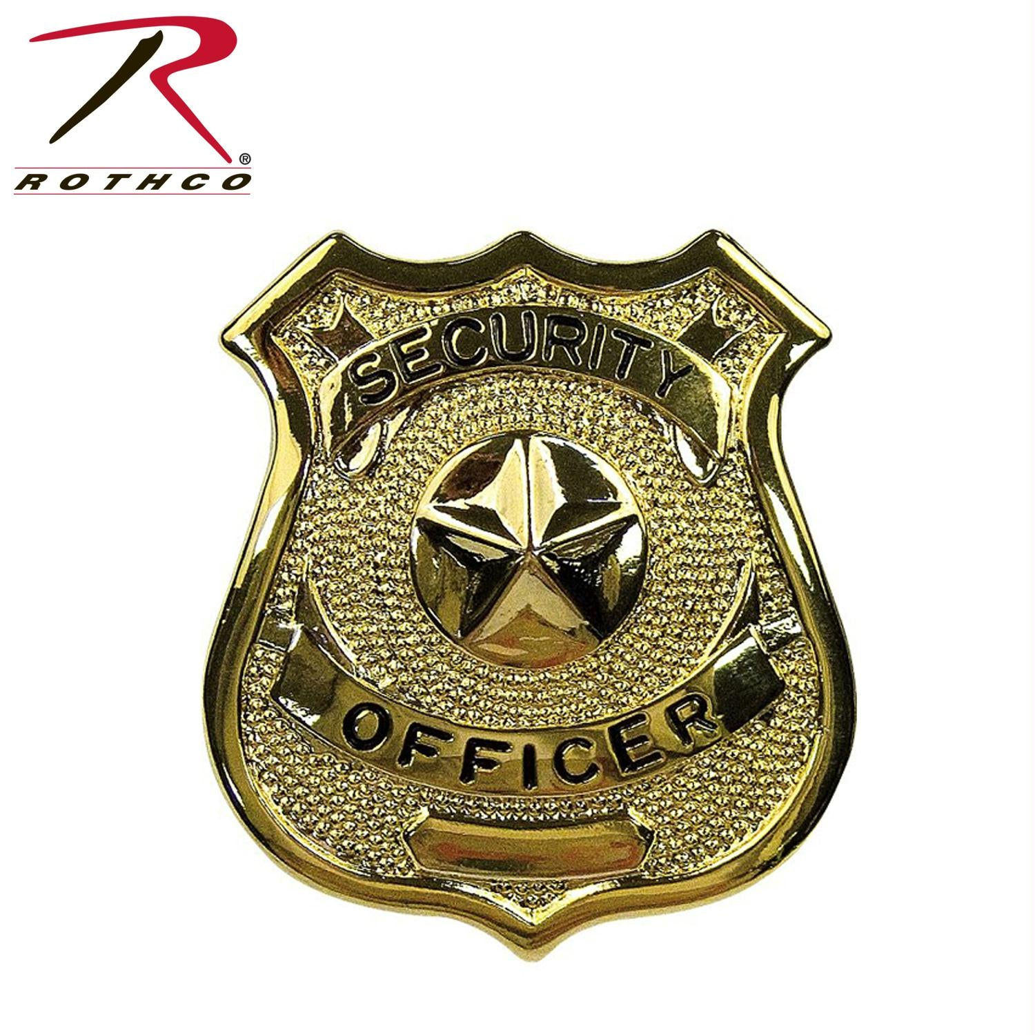 Rothco Security Guard Badge - Gold