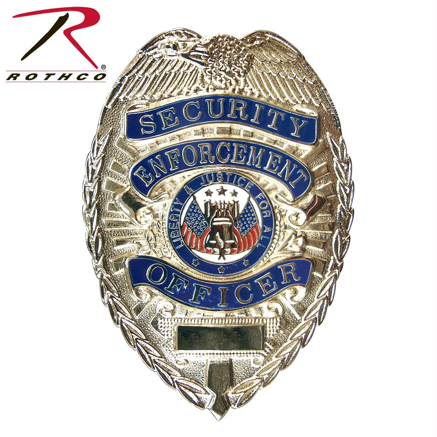 Rothco Deluxe Security Enforcement Officer Badge - Silver