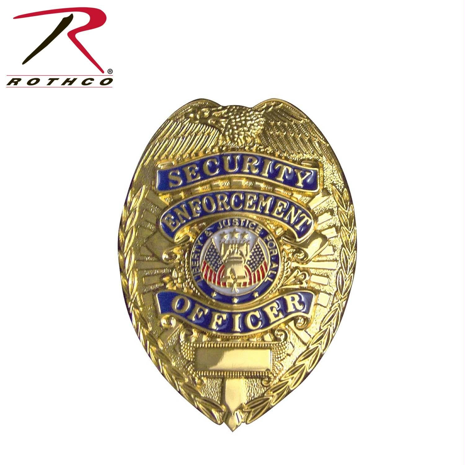 Rothco Deluxe Security Enforcement Officer Badge - Gold