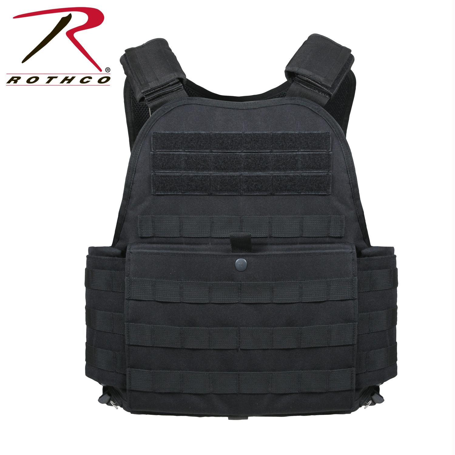 Rothco MOLLE Plate Carrier Vest - Black / Oversized