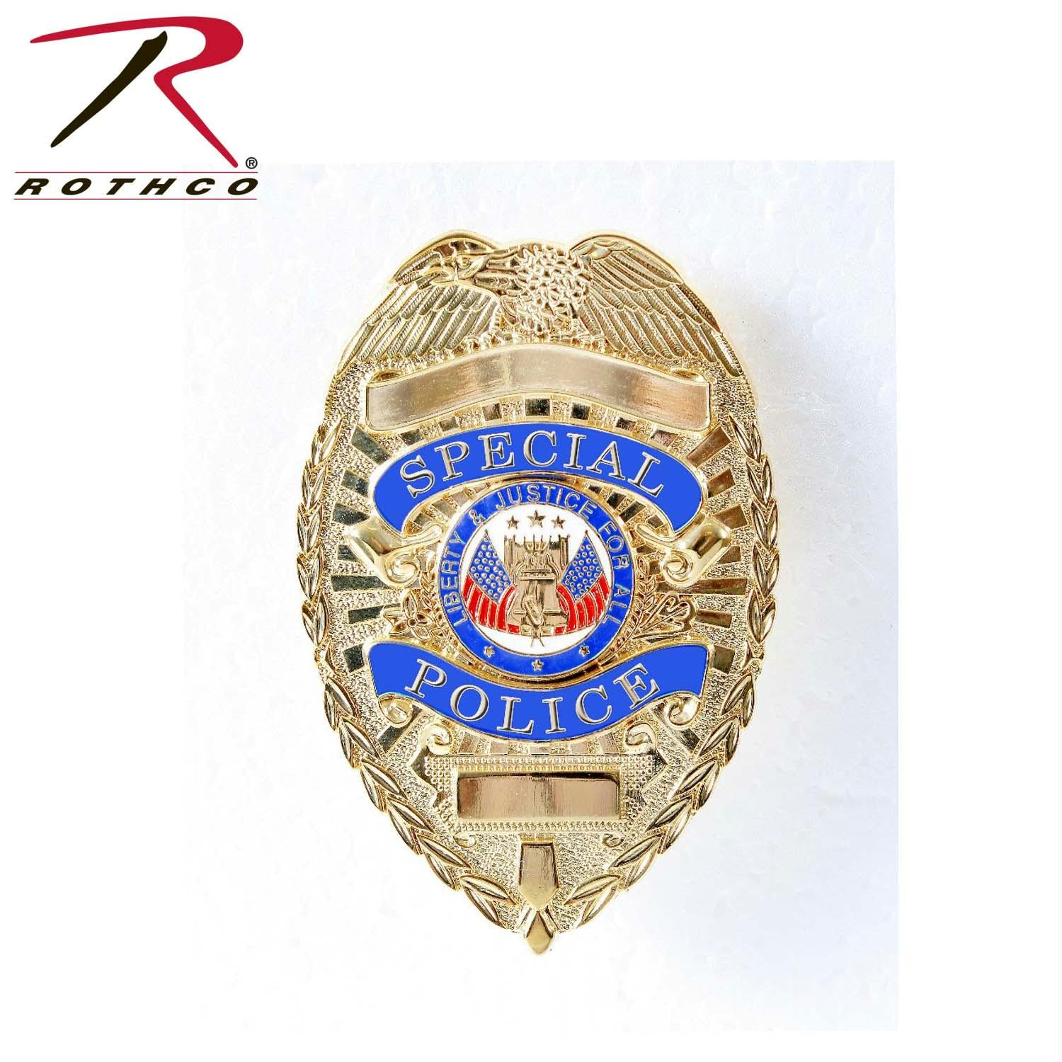 Rothco Deluxe Special Police Badge - Gold