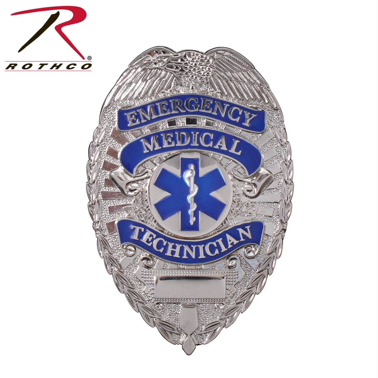 Rothco Deluxe EMT Badge - Silver