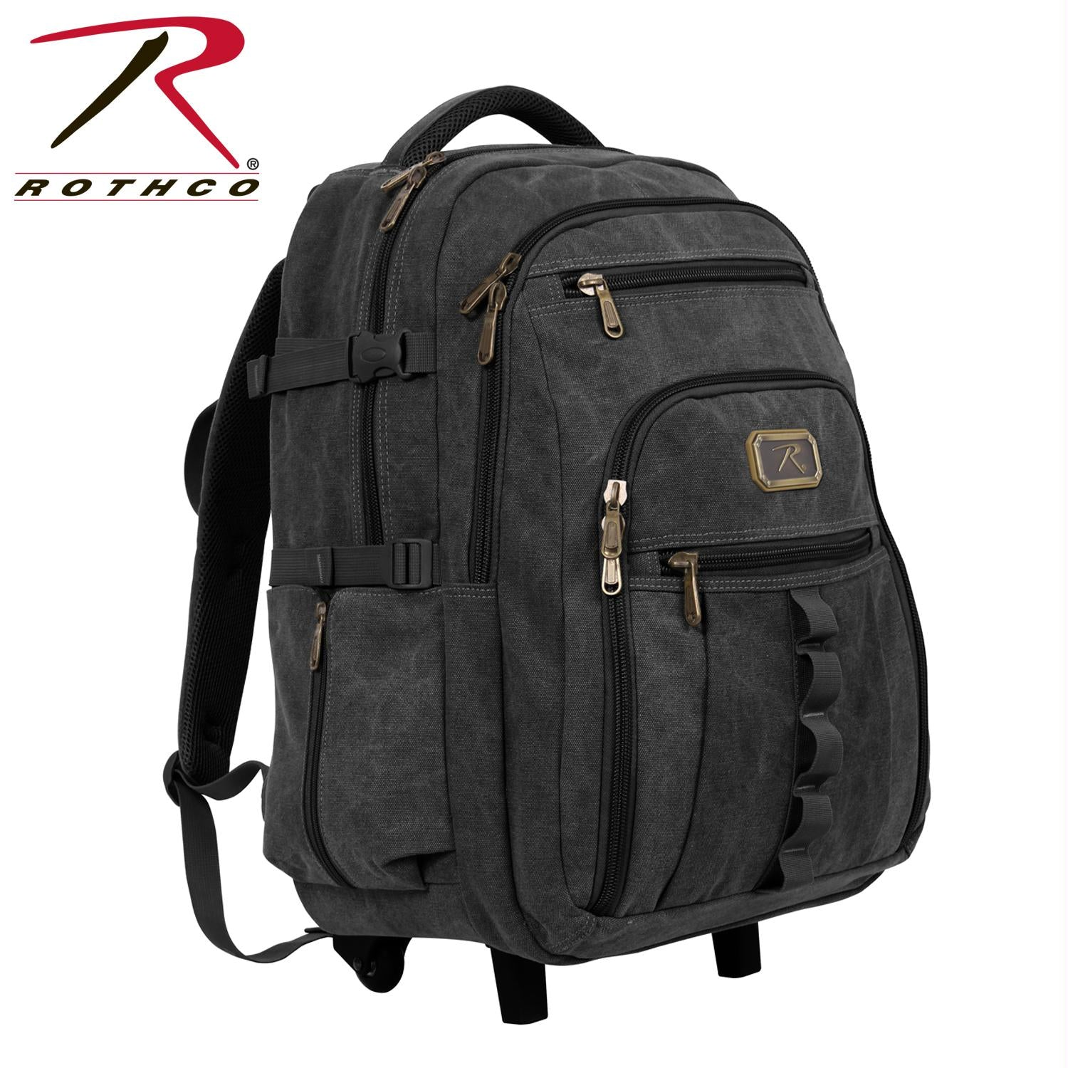 Rothco Rolling Canvas Backpack - Black