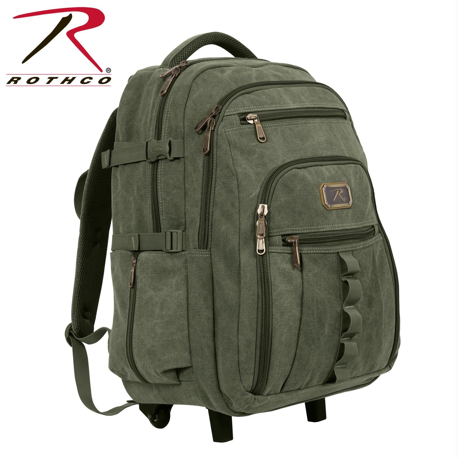 Rothco Rolling Canvas Backpack - Olive Drab