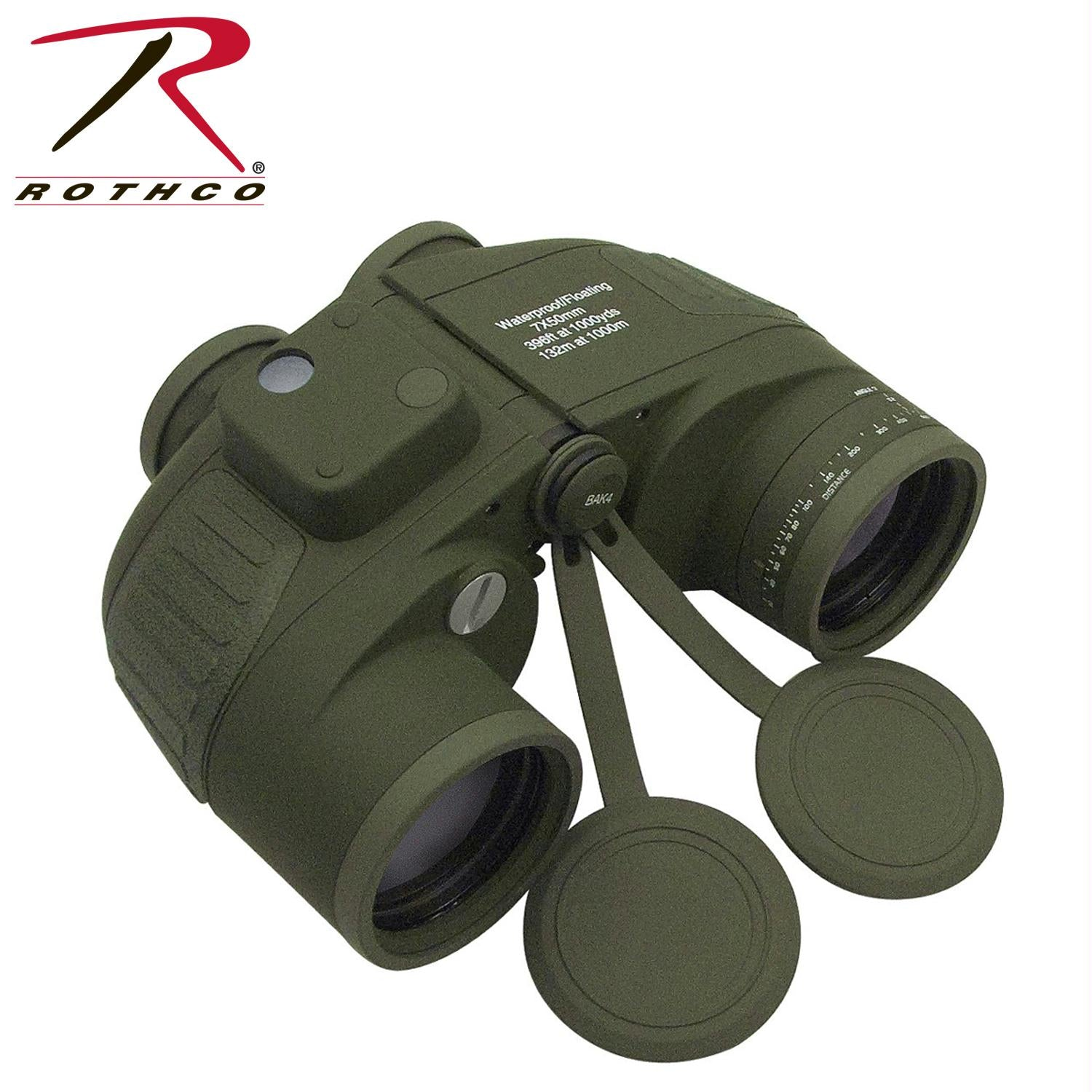 Rothco Military Type 7 x 50MM Binoculars - Olive Drab