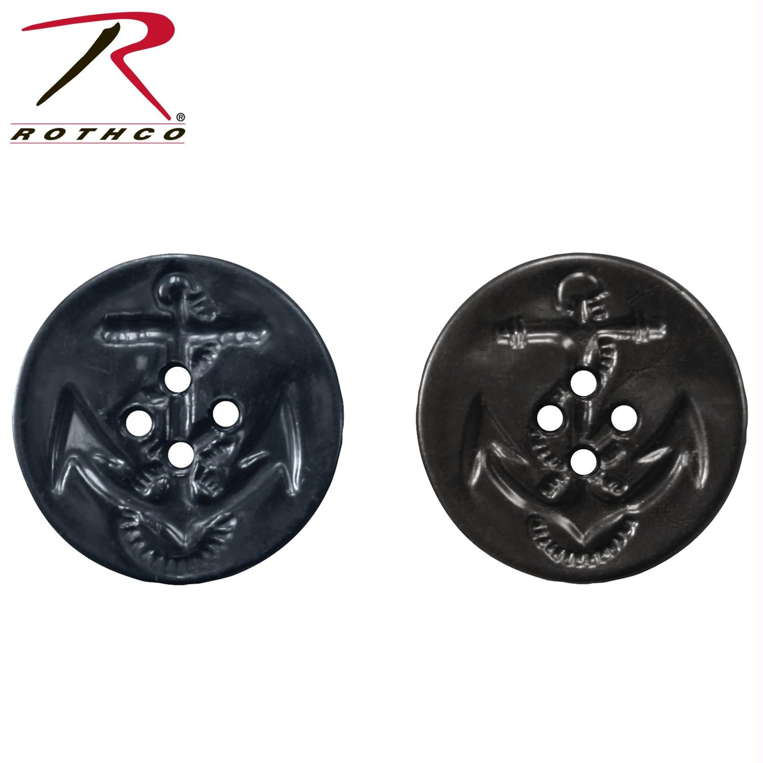 Rothco Peacoat Buttons - Black