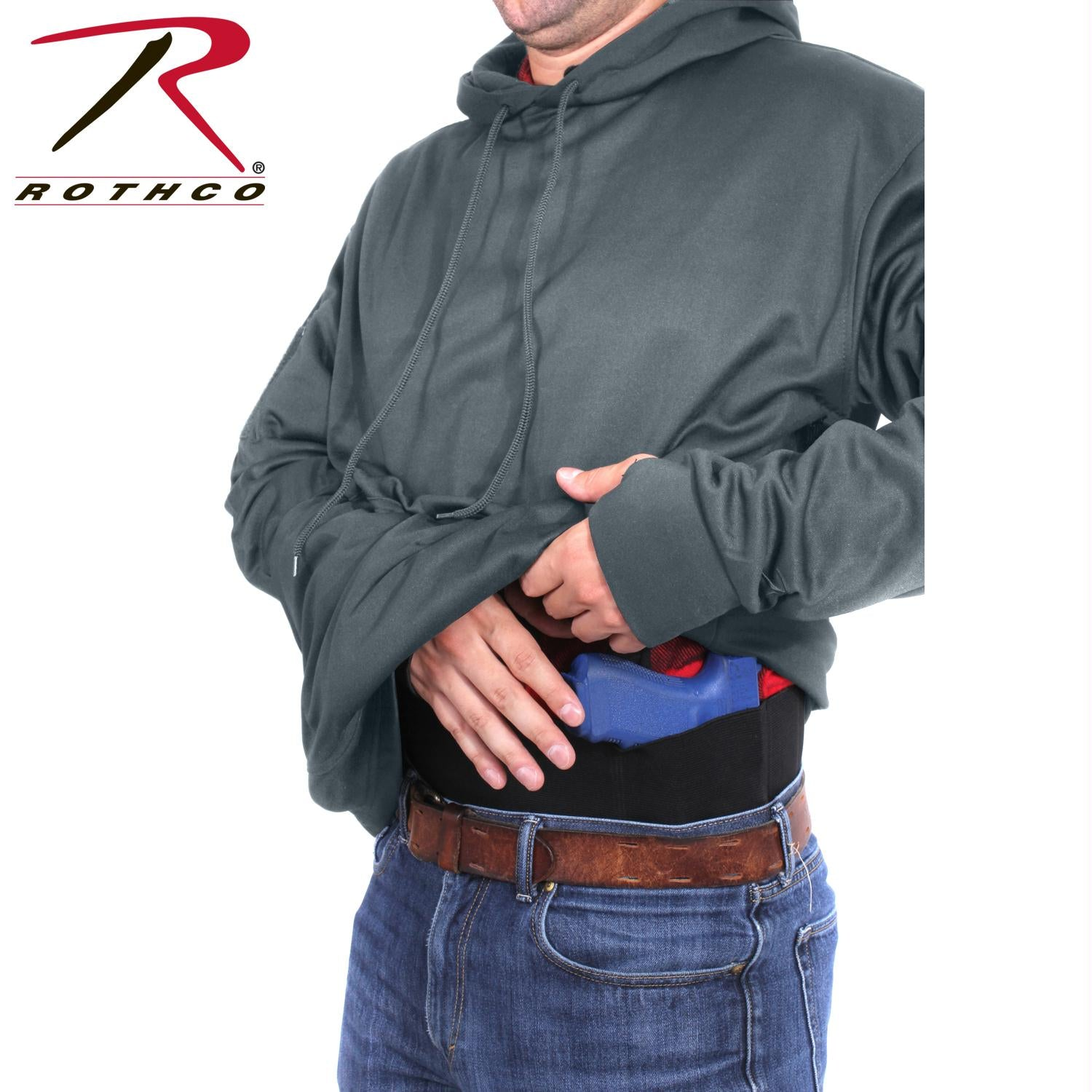 Rothco Concealed Carry Hoodie - Gun Metal Grey / L