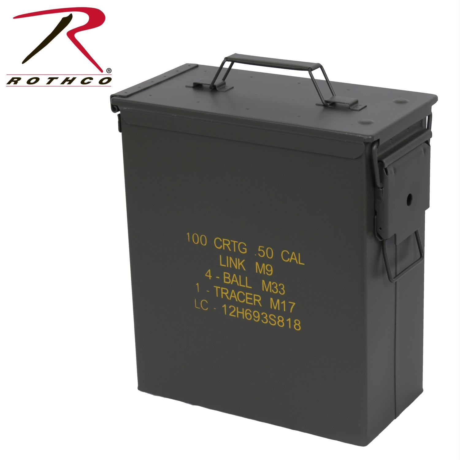 Rothco Mil Spec Ammo Cans - .50 Caliber Tall