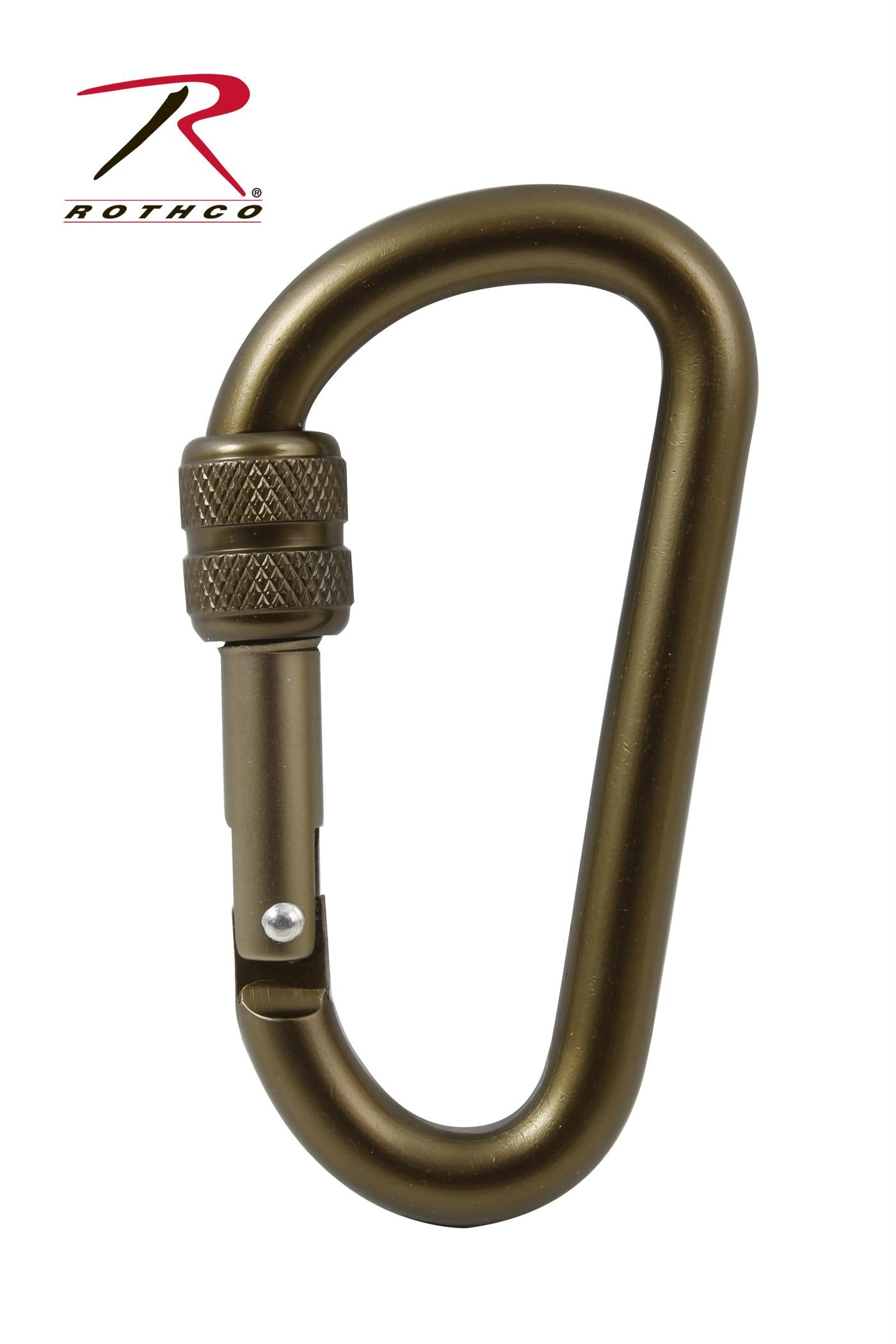 Rothco 80MM Locking Carabiner - Coyote Brown