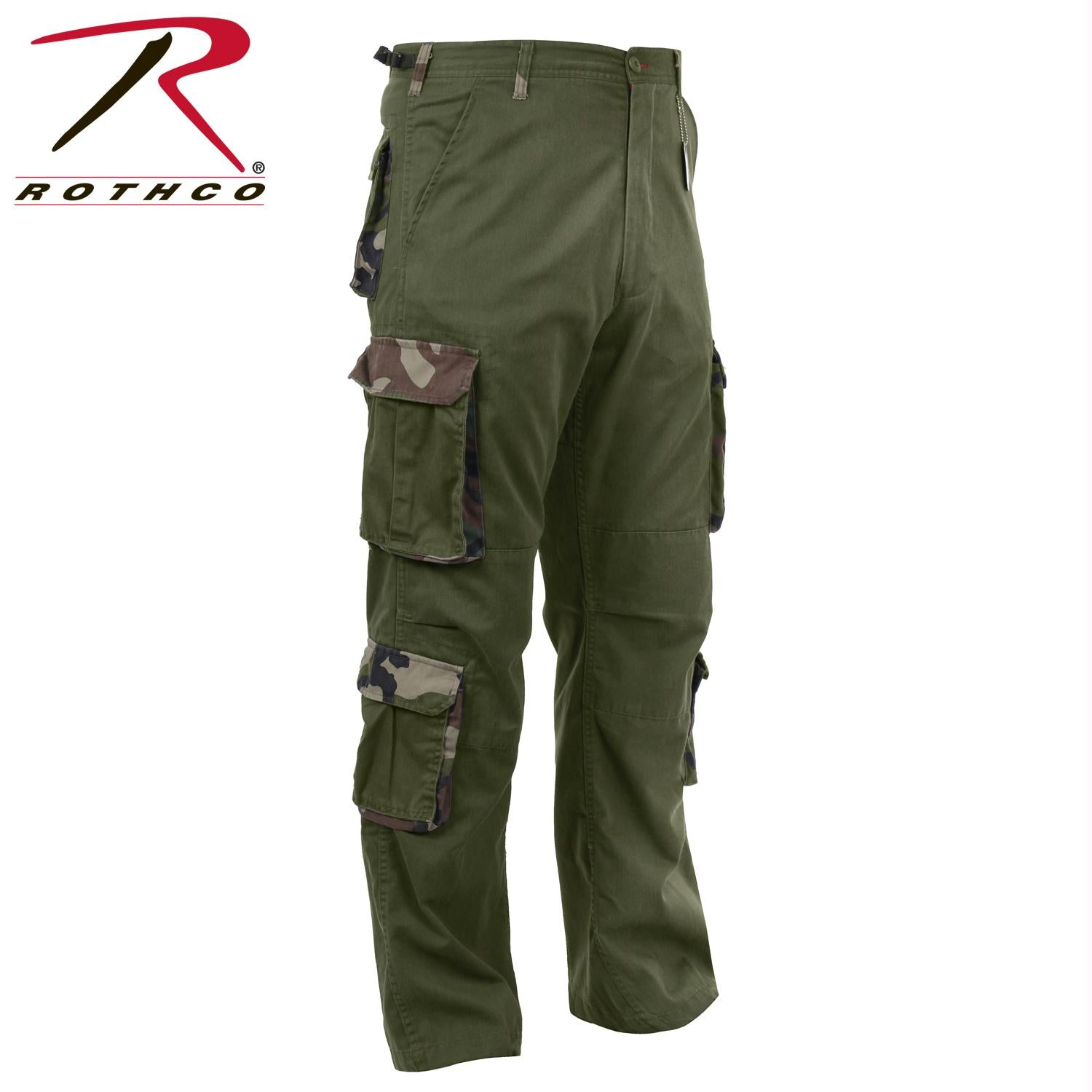 Rothco Vintage Accent Paratrooper Fatigues - Olive Drab / L