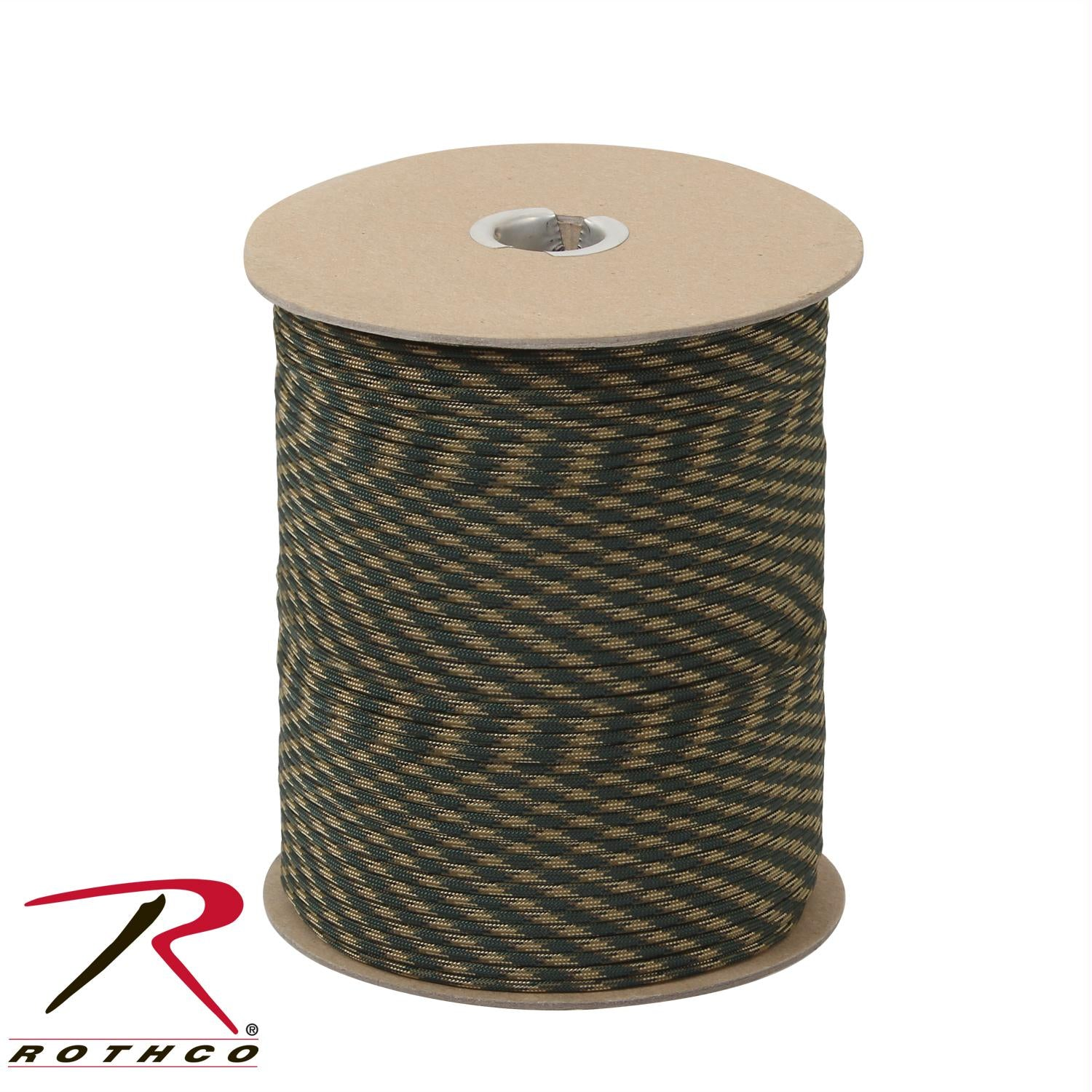 Rothco Nylon Paracord 550lb 1000 Ft Spool - Woodland Camo