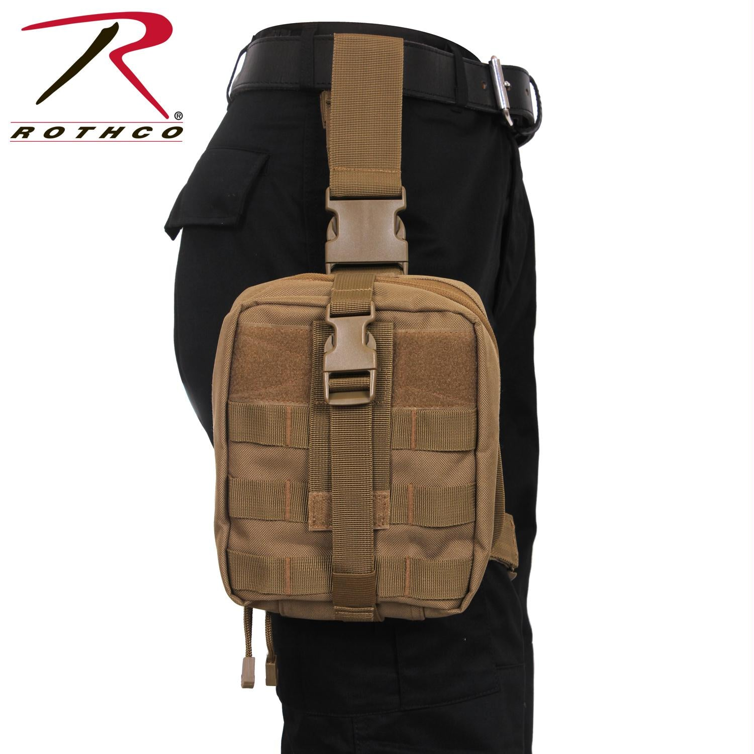 Rothco Drop Leg Medical Pouch - Coyote Brown