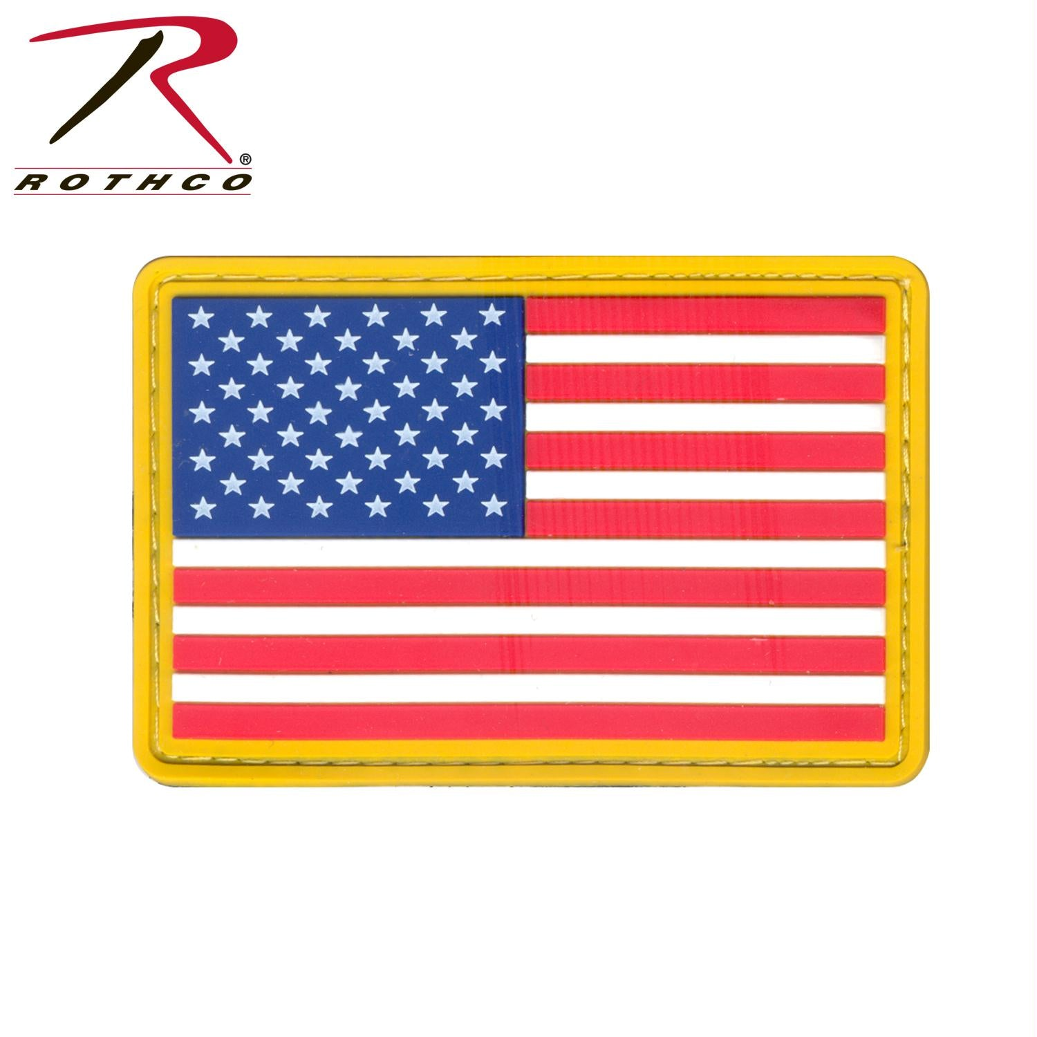 Rothco PVC US Flag Patch - One Size
