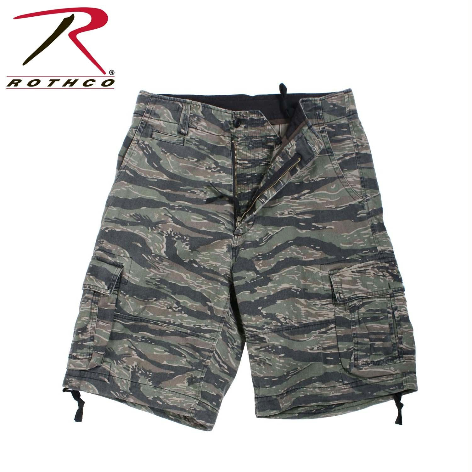 Rothco Vintage Camo Infantry Utility Shorts - Tiger Stripe Camo / XS