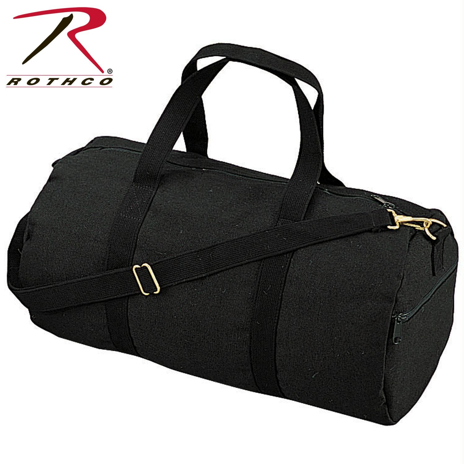 Rothco Canvas Shoulder Duffle Bag - 19 Inch - Black