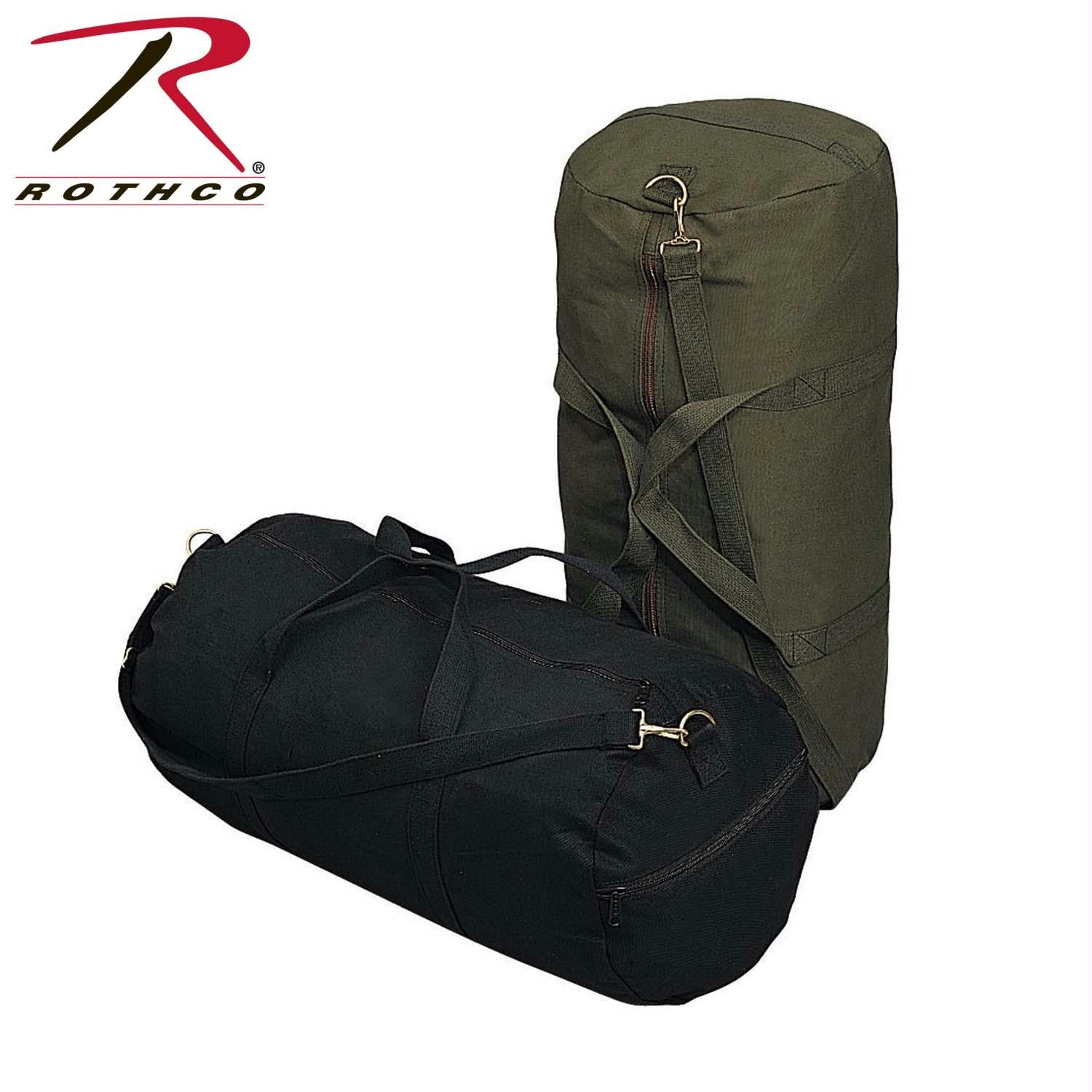 Rothco Canvas Shoulder Duffle Bag - 24 Inch - Olive Drab