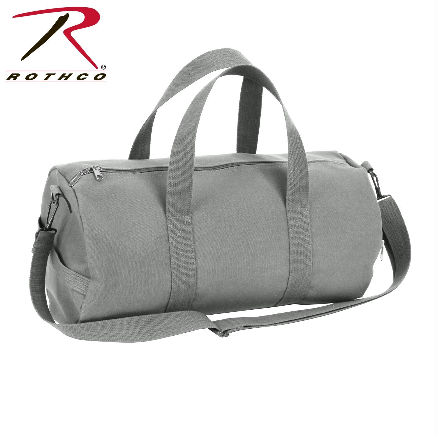 Rothco Canvas Shoulder Duffle Bag - 19 Inch - Grey