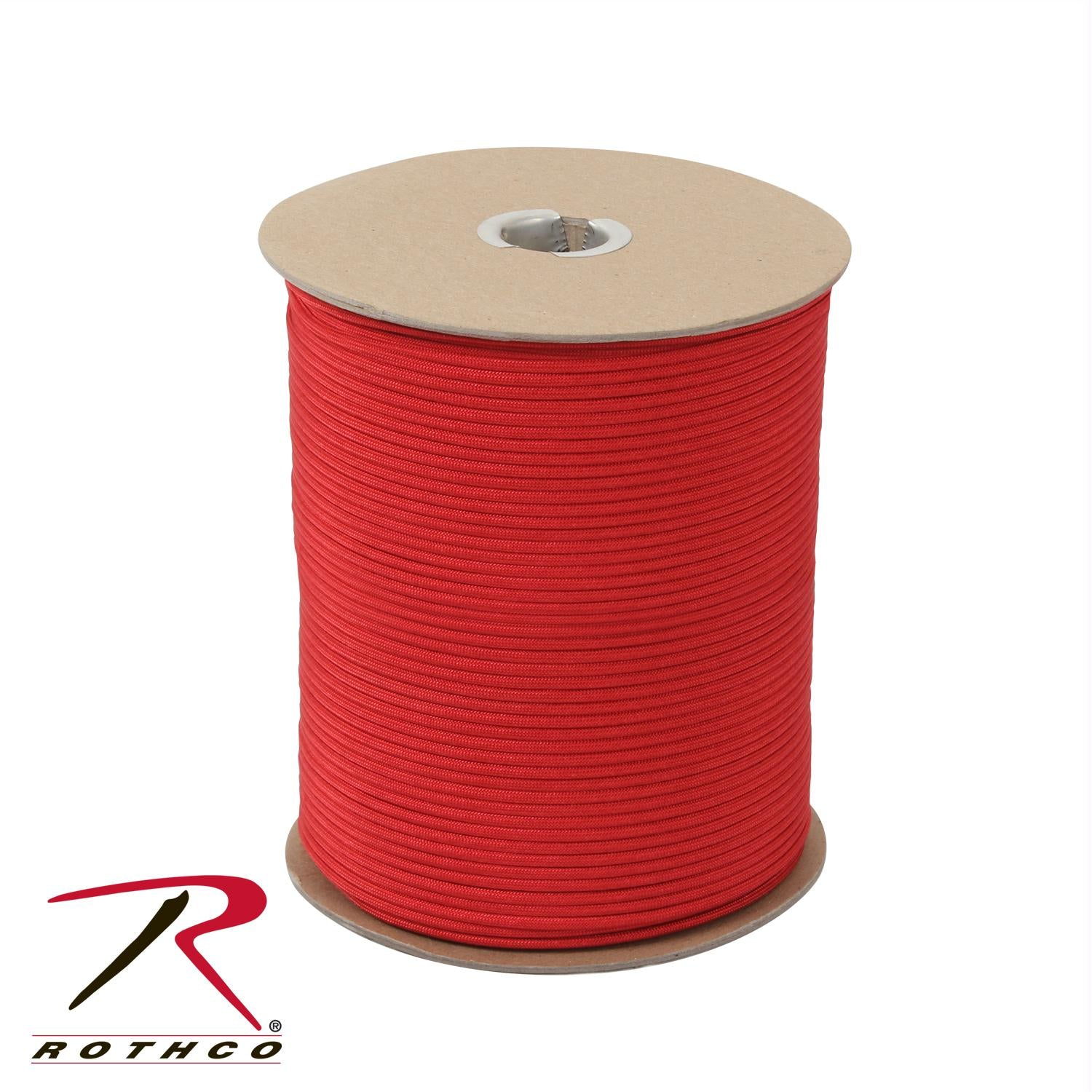 Rothco Nylon Paracord 550lb 1000 Ft Spool - Red
