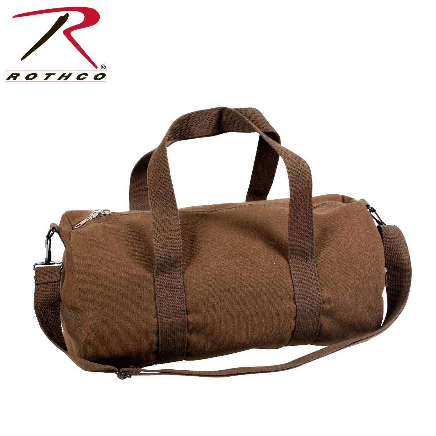 Rothco Canvas Shoulder Duffle Bag - 19 Inch - Earth Brown