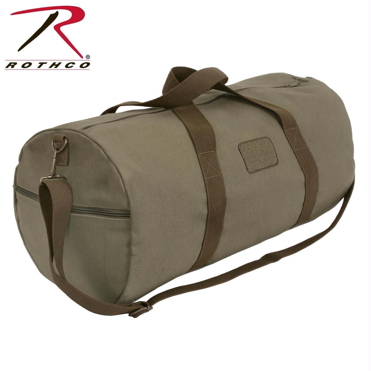 Rothco Two-Tone Shoulder Duffle With Loop Patch - Vintage Olive Drab / One Size