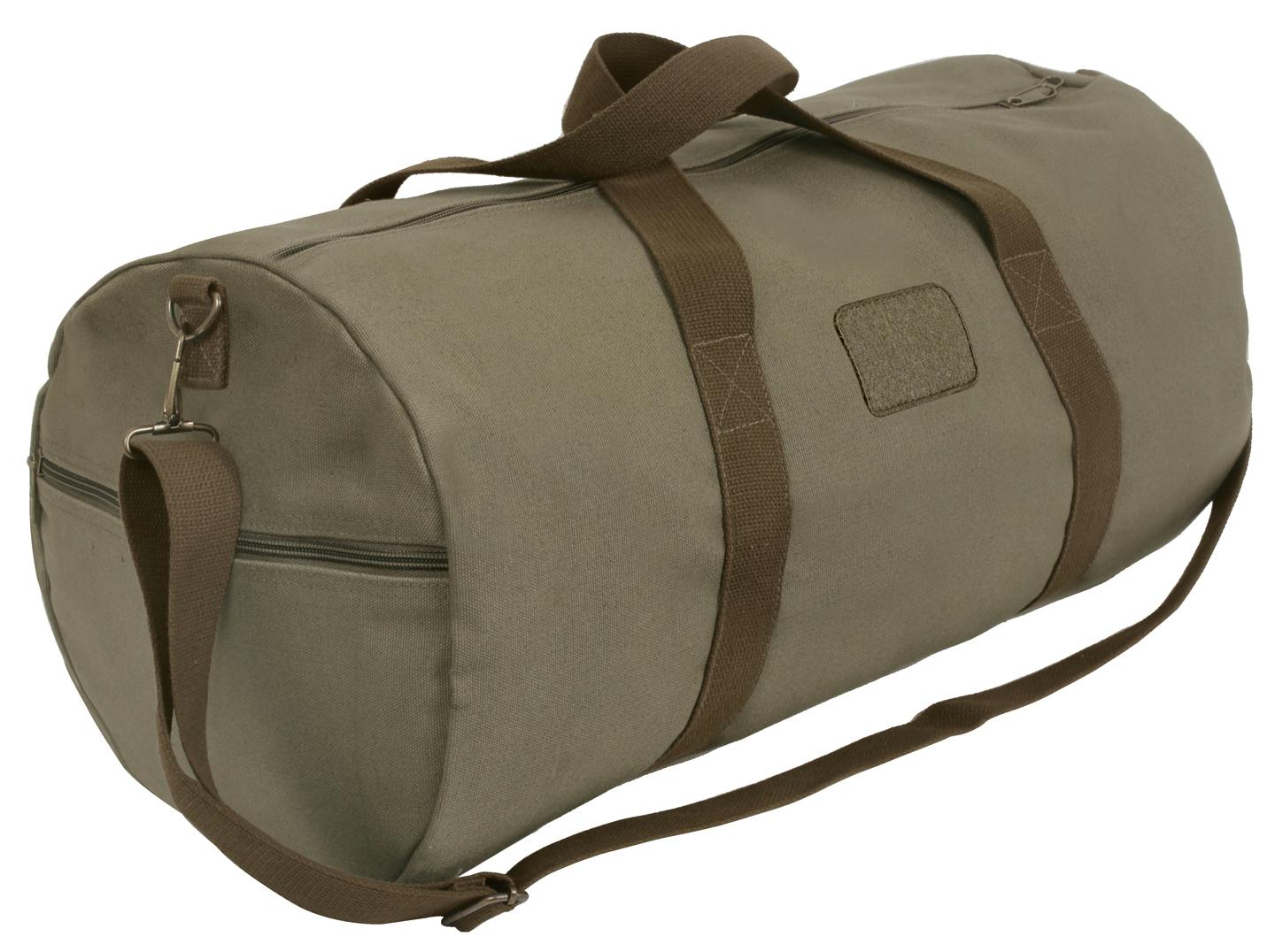 Rothco Two-Tone Shoulder Duffle With Loop Patch
